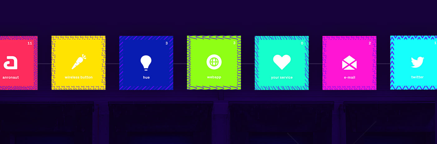 branding  pattern colorful flexible Interface future industry Smart Home Logistics connect