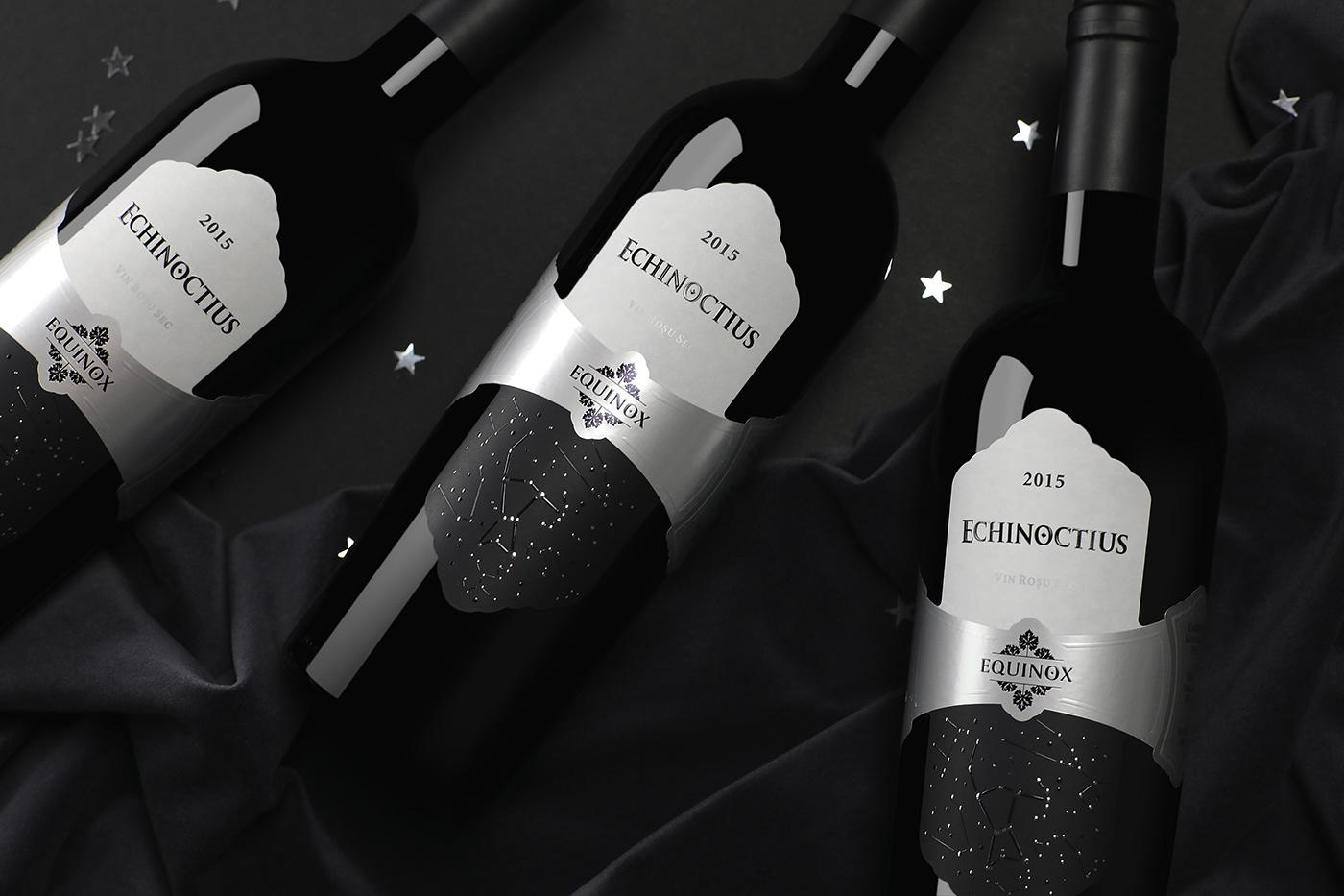 design branding  Packaging Equinox Echinoctius Label wine