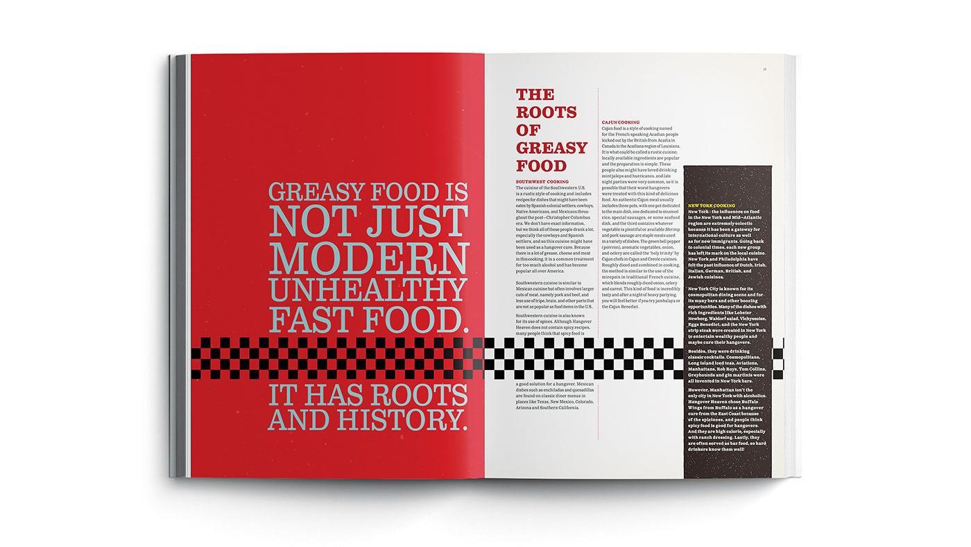 graphic design  book design InDesign Cookbook Design conceptual cookbook typography   visual design fatfood Book Cover Design grid