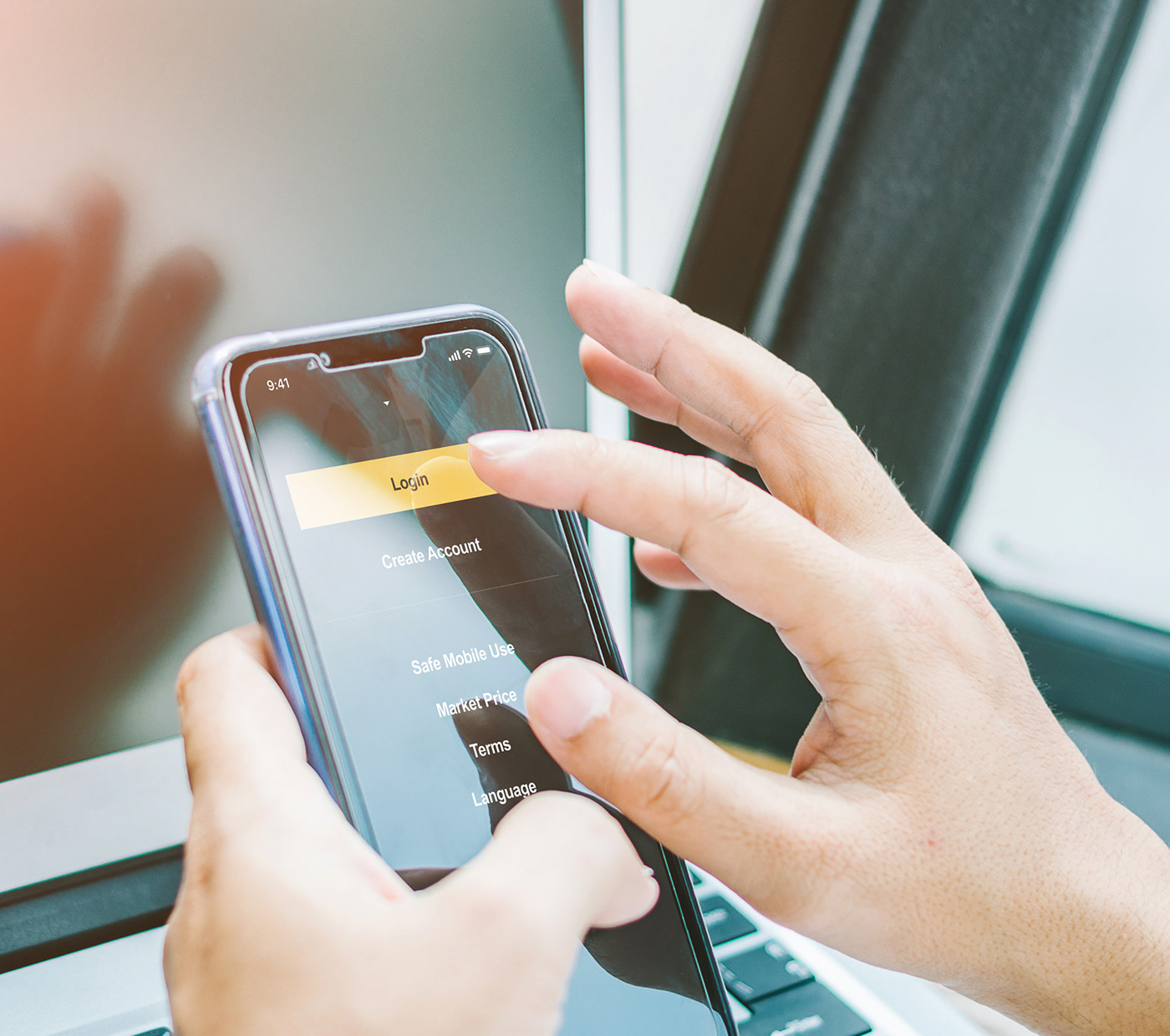mobile app promo banking money Web Appdesign minimal gold black