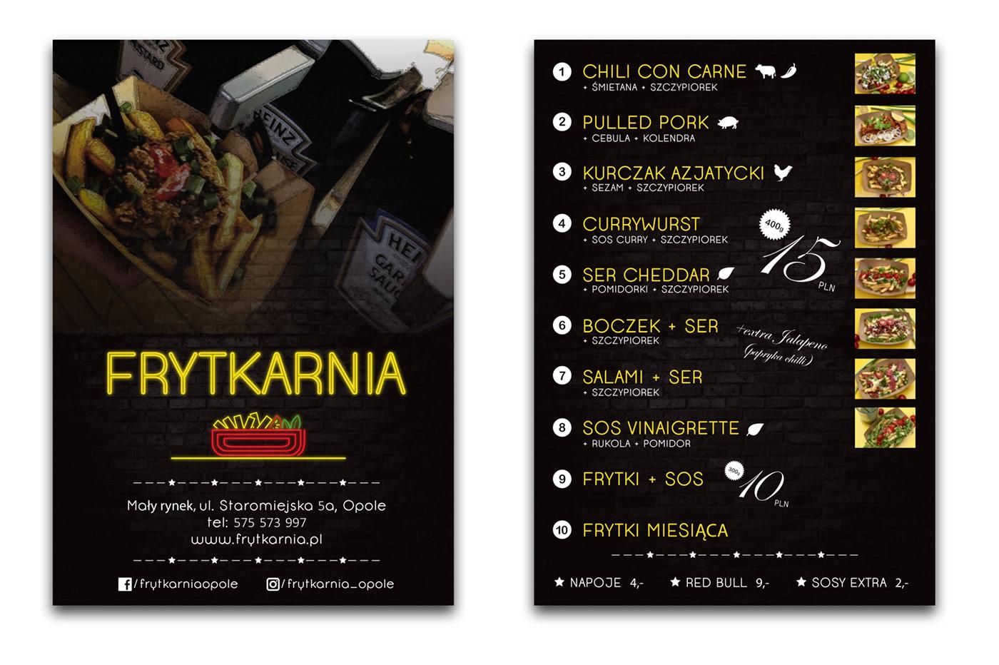 design grafika uzytkowa restauracja gastronomia projekt do druku