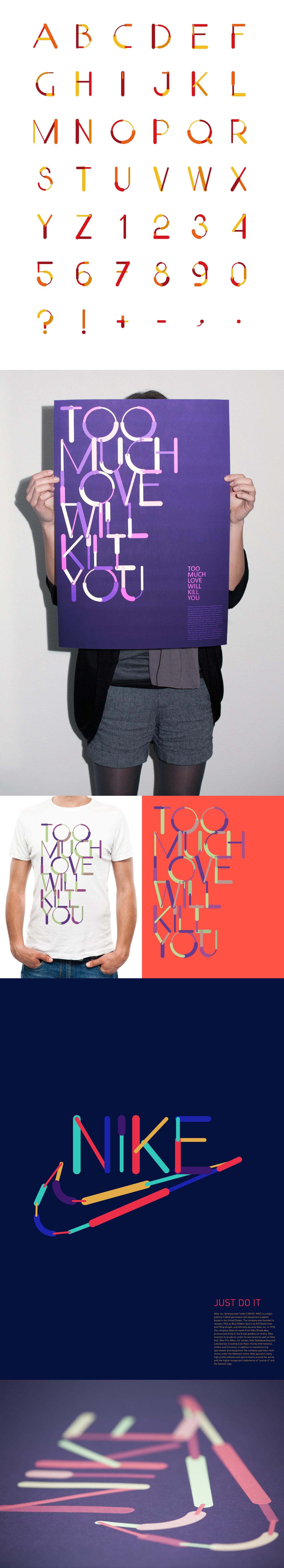 Adobe Portfolio Nike color lines partline font queen anton gridz ukraine