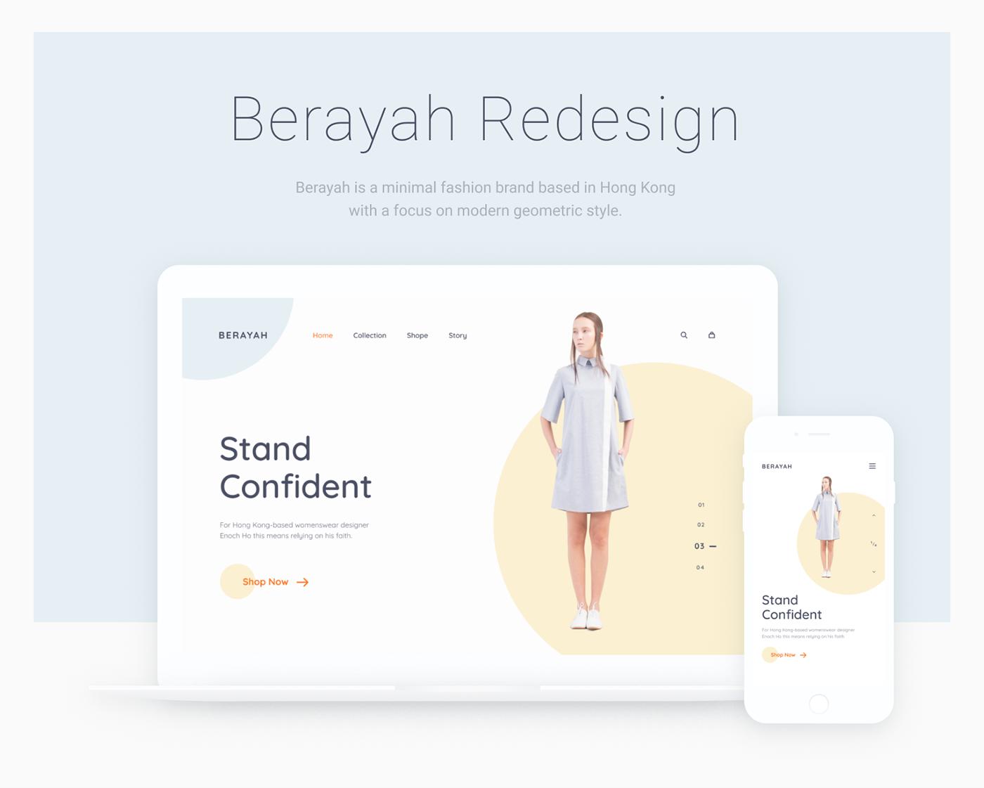 minimal UI Webdesign design Fashion  simple ux Figma mobile ios