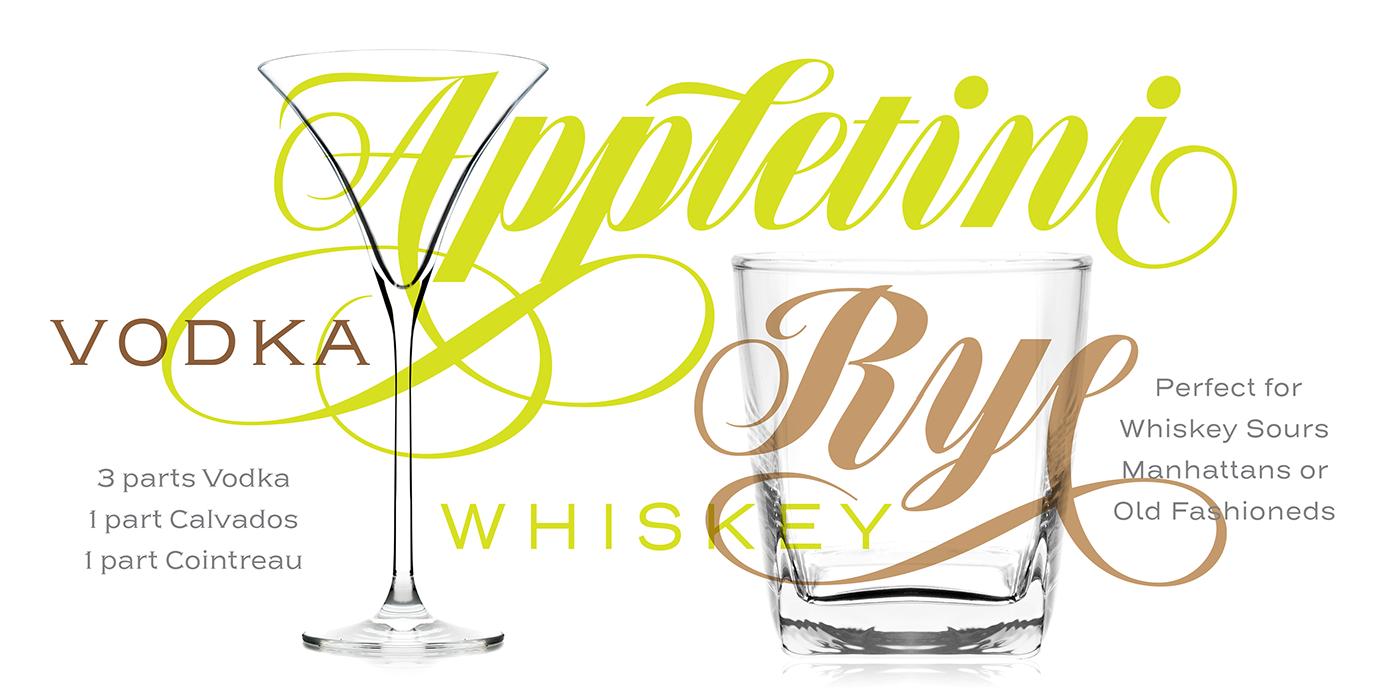 cocktail branding  typography   font typedesign graphicdesign Brazil speakeasy sudtipos