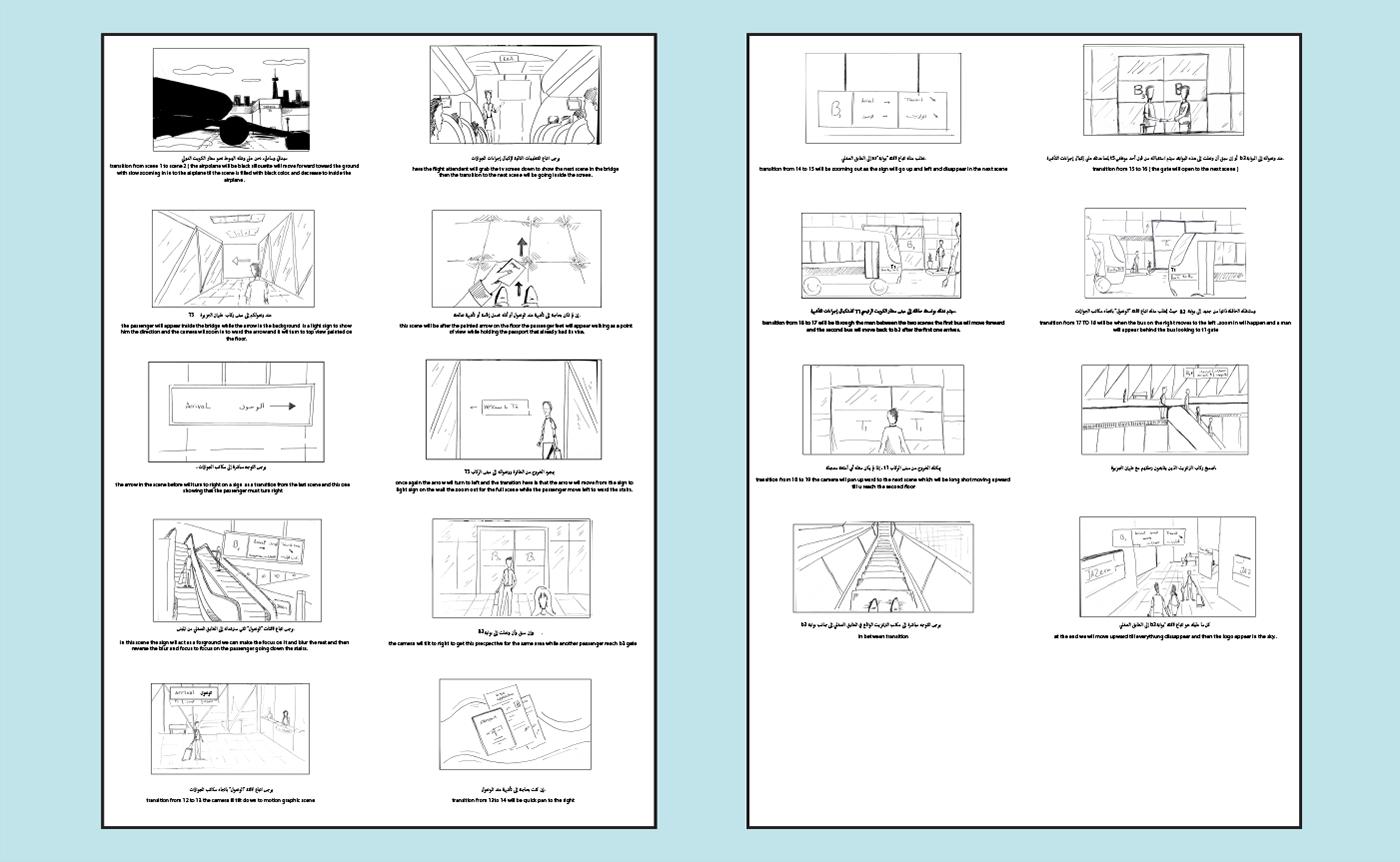 Kuwait motion graphics  explainer video dubai airport flight Sohaib sohib 2D Animation character animation