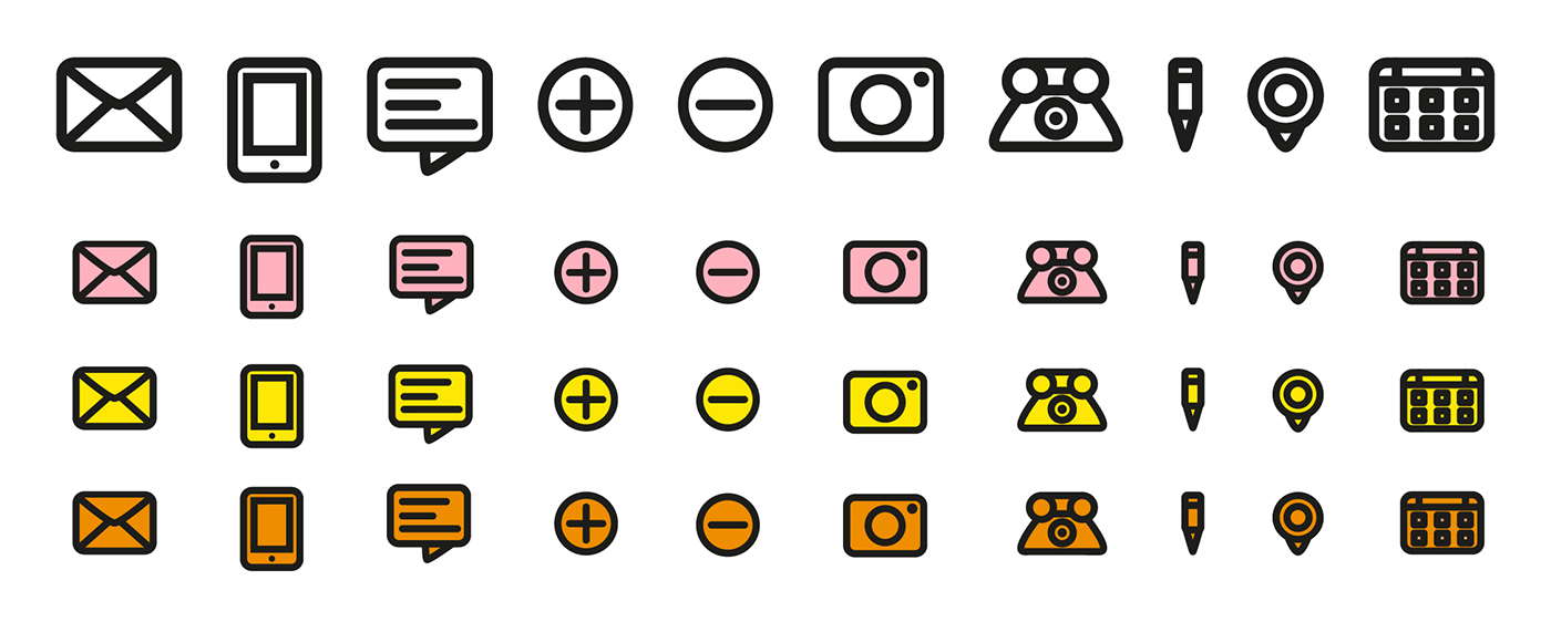 Corporate Design colorful Yellow and Orange And Pink logodesign design manual corporate typography icons Icondesign