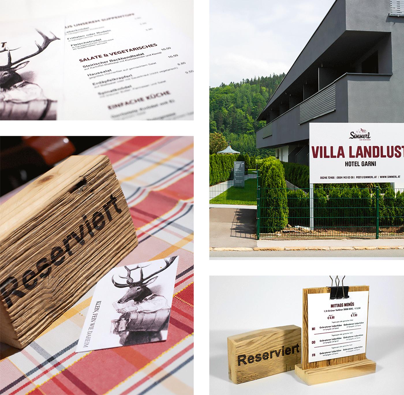 Corporate Design businesscard branding  hotel restaurant ILLUSTRATION  room design kids