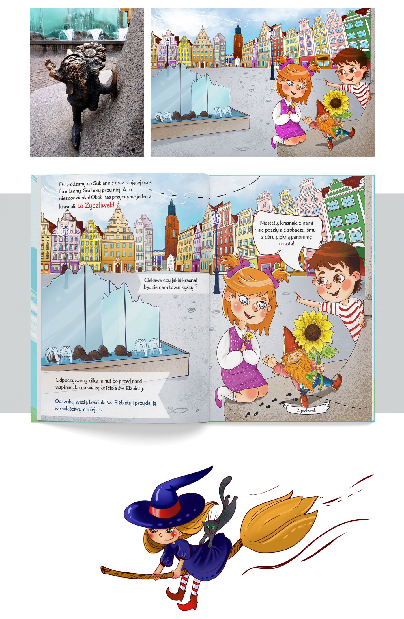 architecture Character design  children children book emka kid Krasnoludki poland Polish illustrator wroclaw