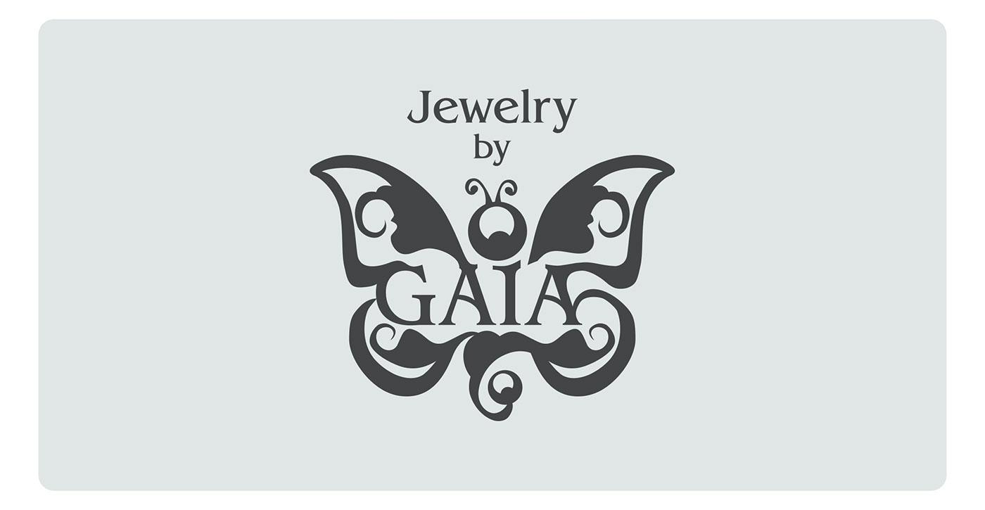 jewelry  brand  logo Gaia Product Photography