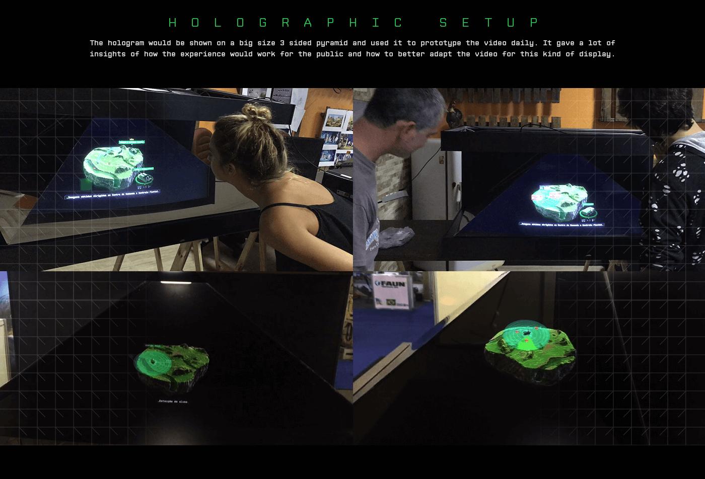 holography hologram video explainer security army defense Brazil Technology HUD