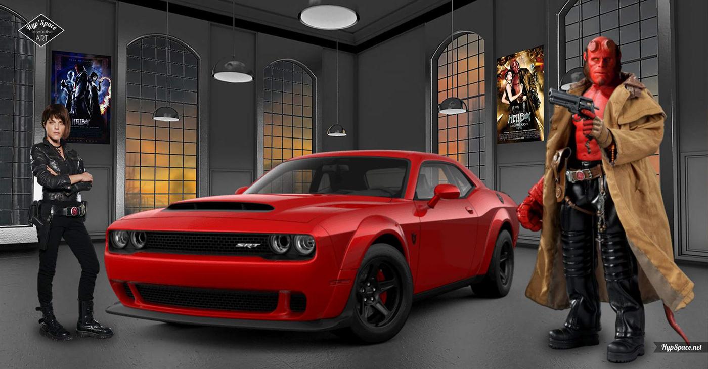 3D art dodge fanart Hellboy HypSpace interactive