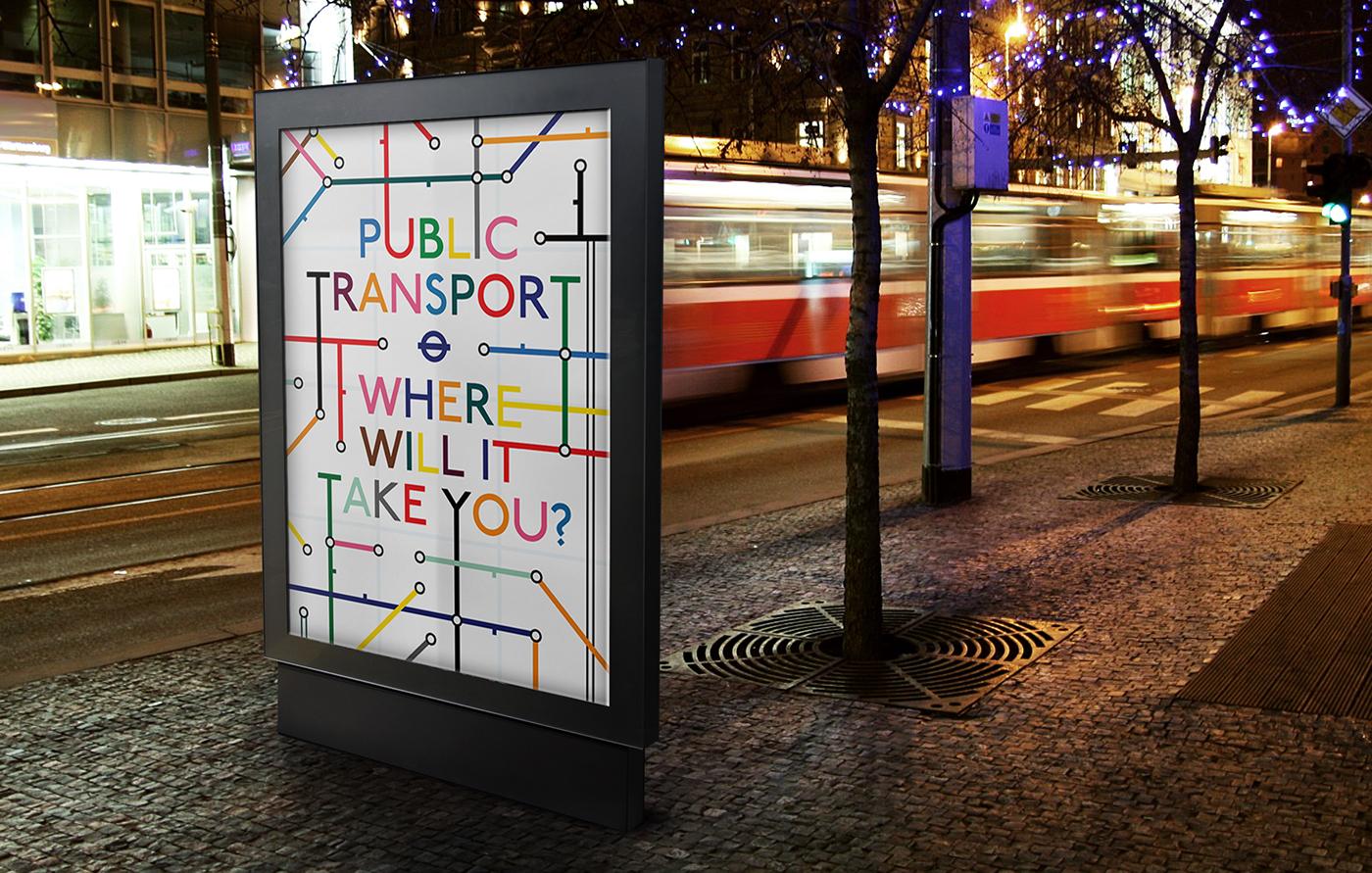 animation  poster Transport motion London Travel