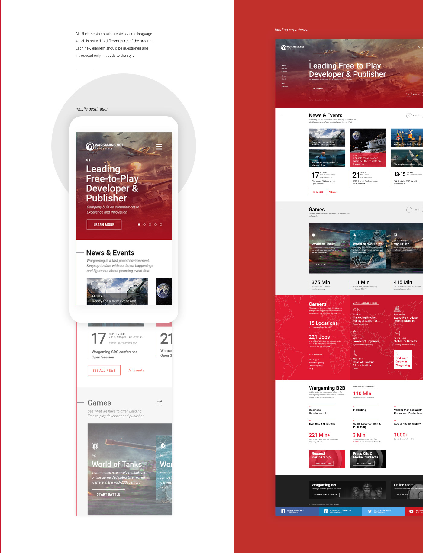 UI ux interaction brand WebDesing wargaming icons strategy corporate animation