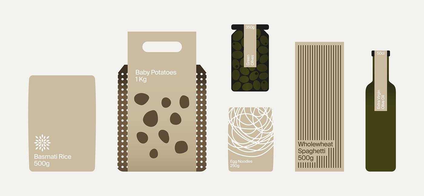 Food  shop Sustainable Packaging Supermarket environmental plastic minimal simple system