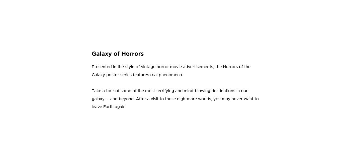 Designlab exoplanet galaxy horror JPL JPL-Designlab nasa poster