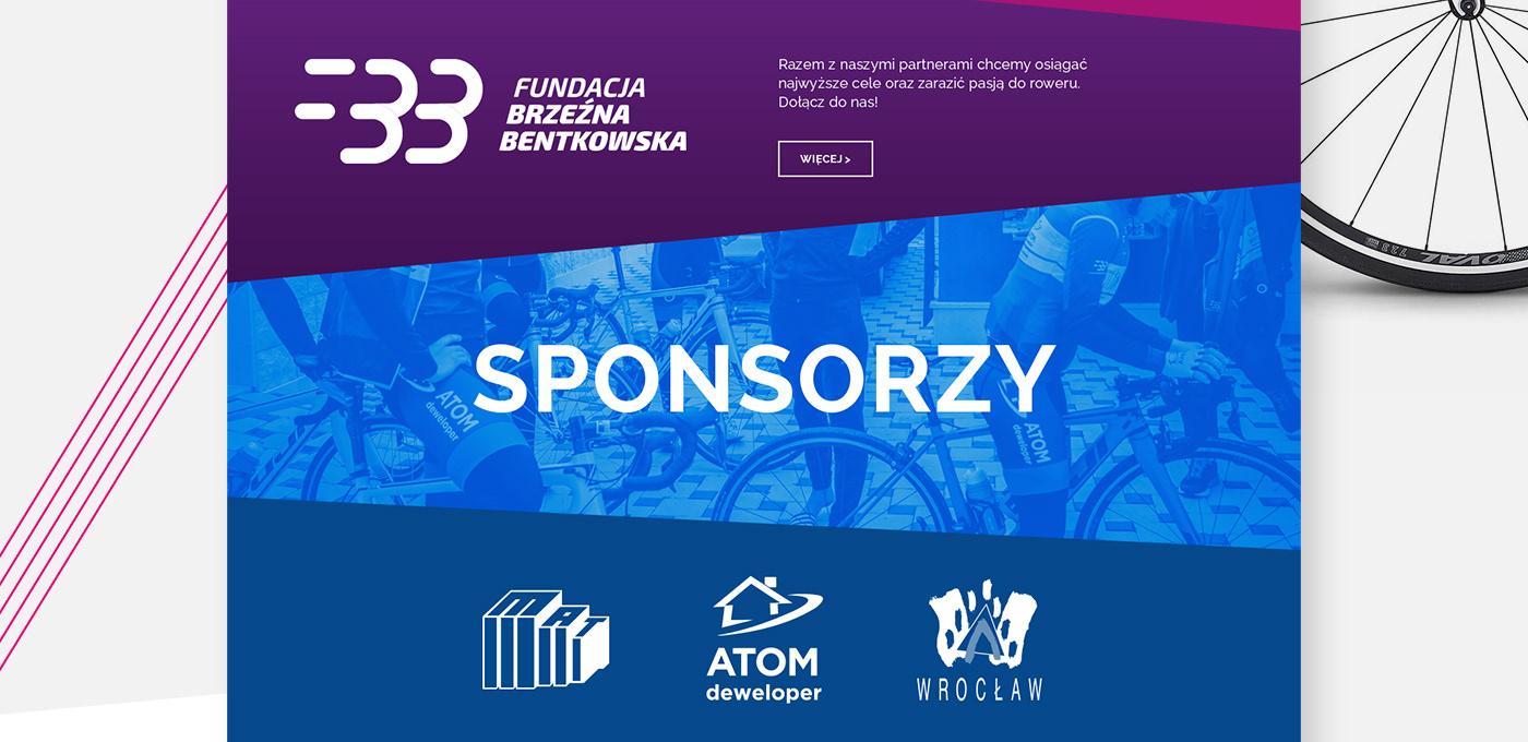 Web design sport Cycling women