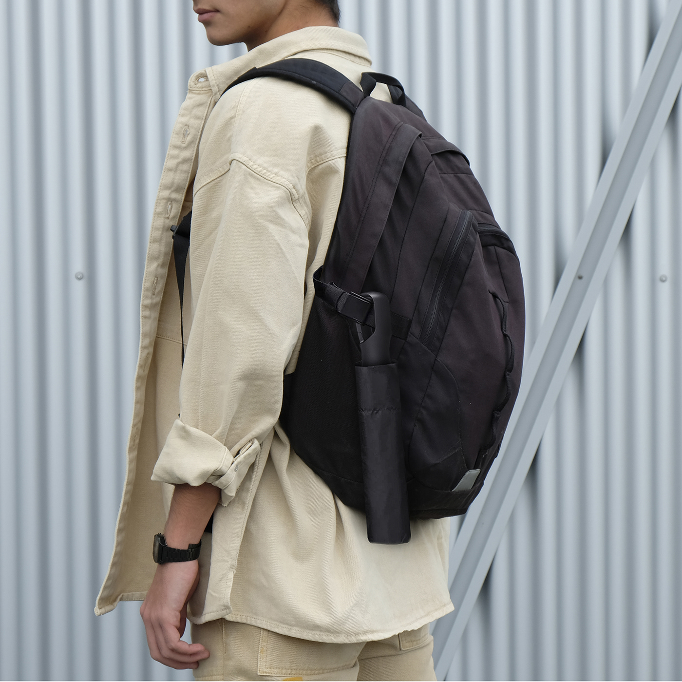 Image may contain: luggage and bags, person and handbag