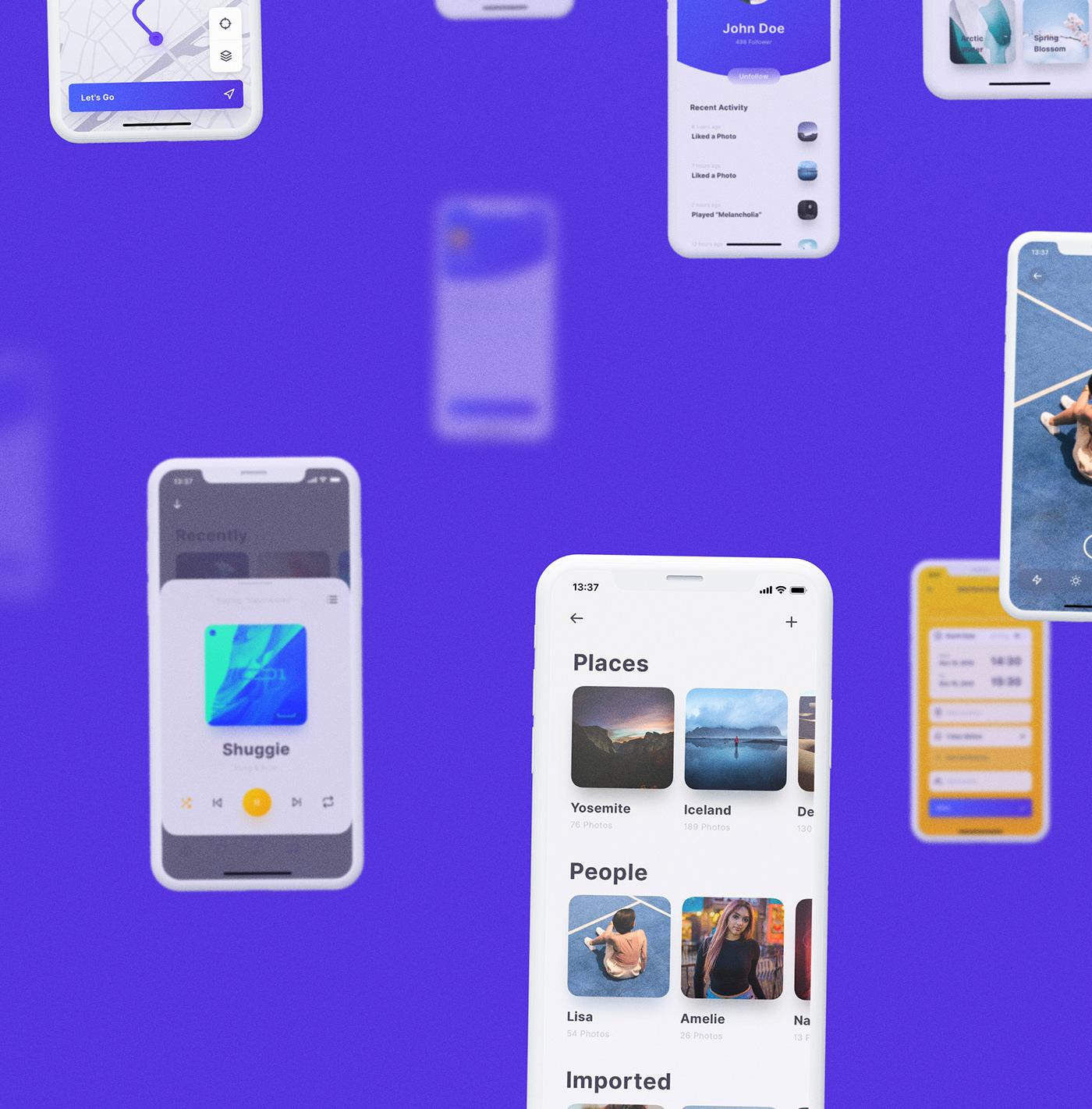 ios UI kit ux design system sketch ui kit stylekit