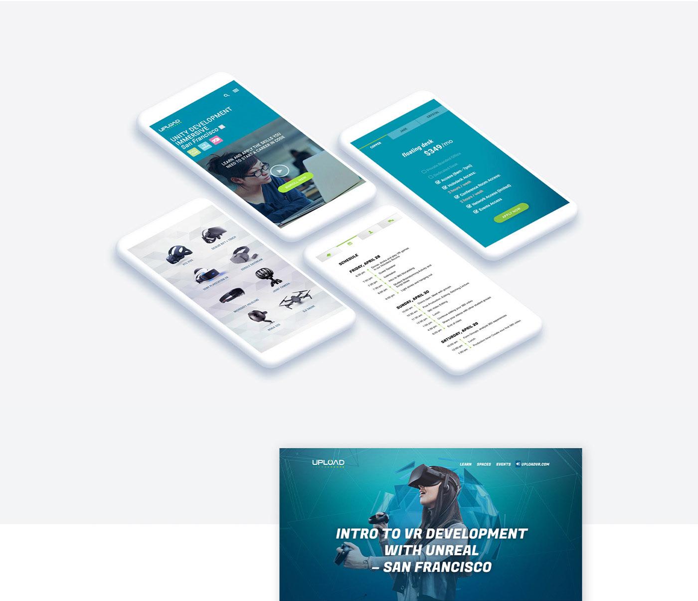 AR Startup UI ux visual design vr
