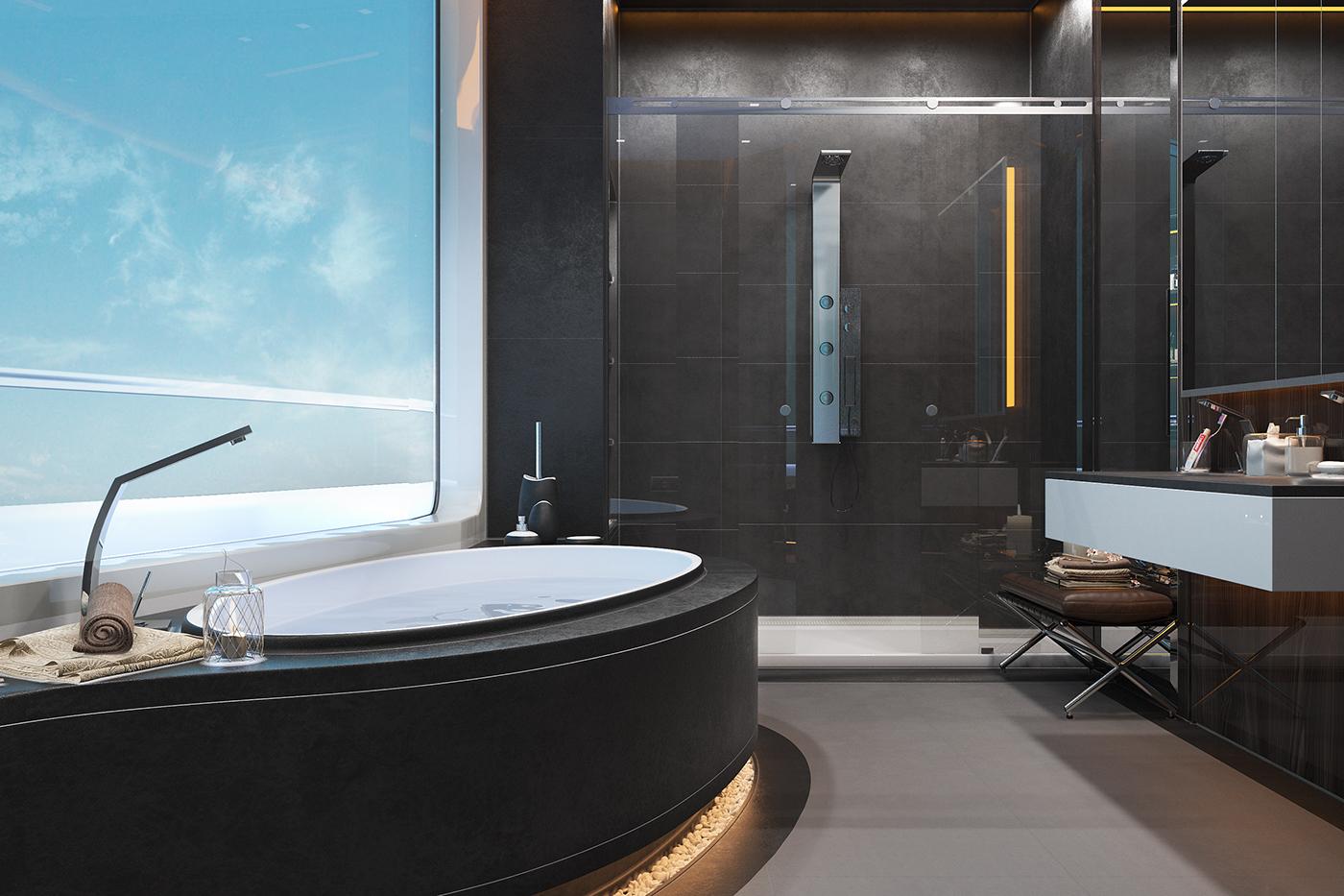 Yacht Bathroom On Behance