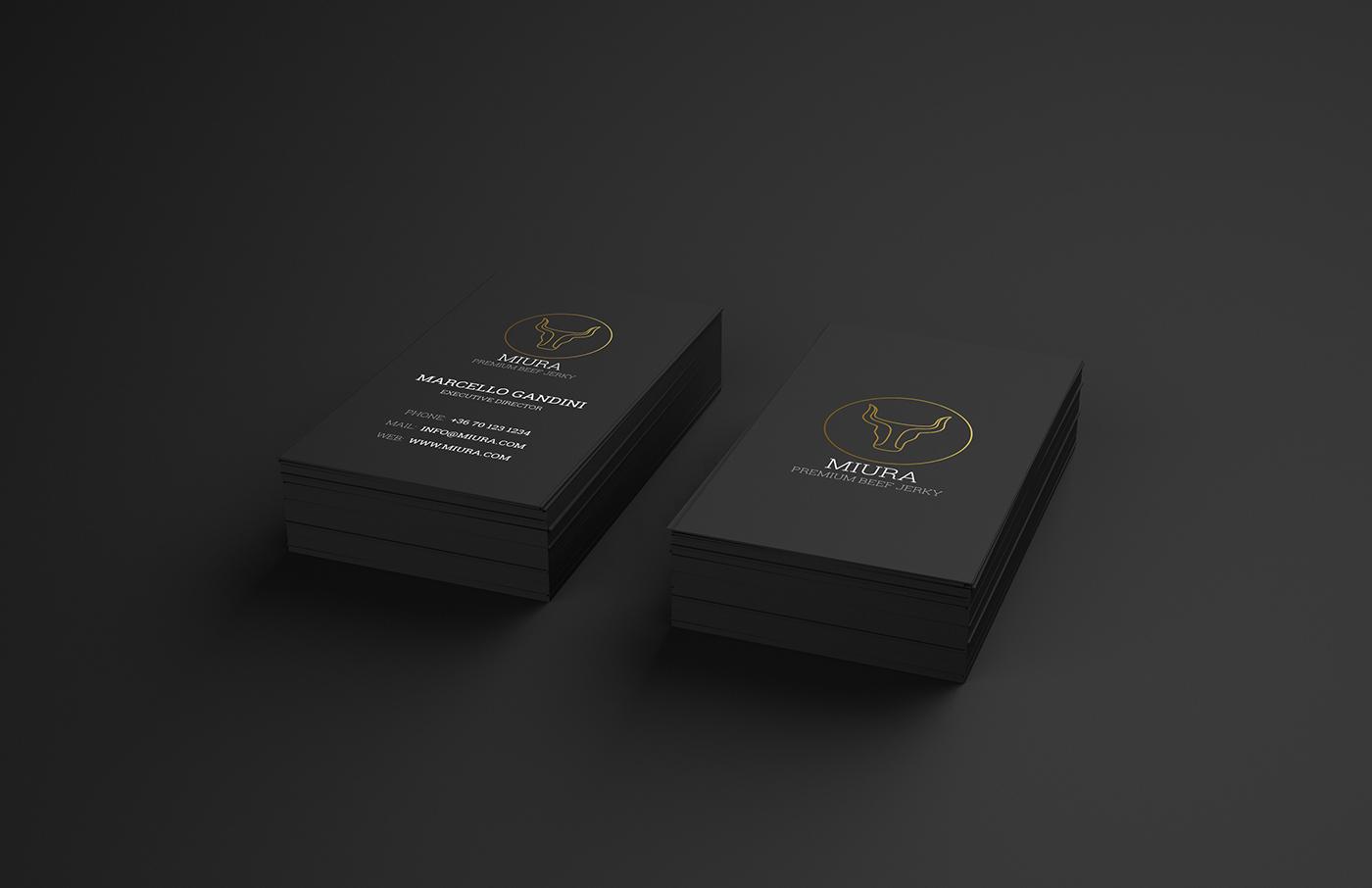 vector logo premium branding  gold bull jerky minimal