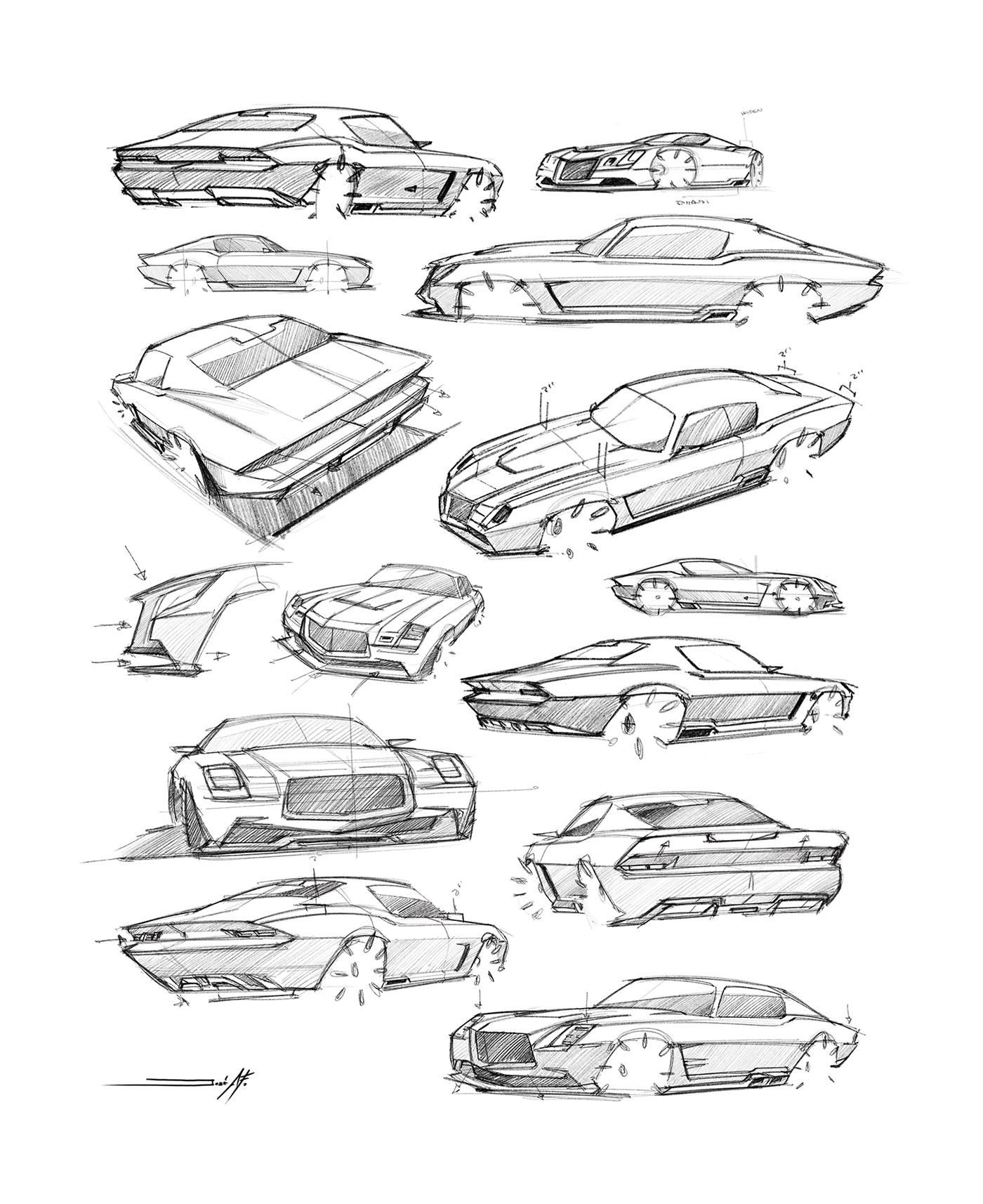 car,camaro,Retro,future,black,modern,sketch,chevrolet,animation ,tech