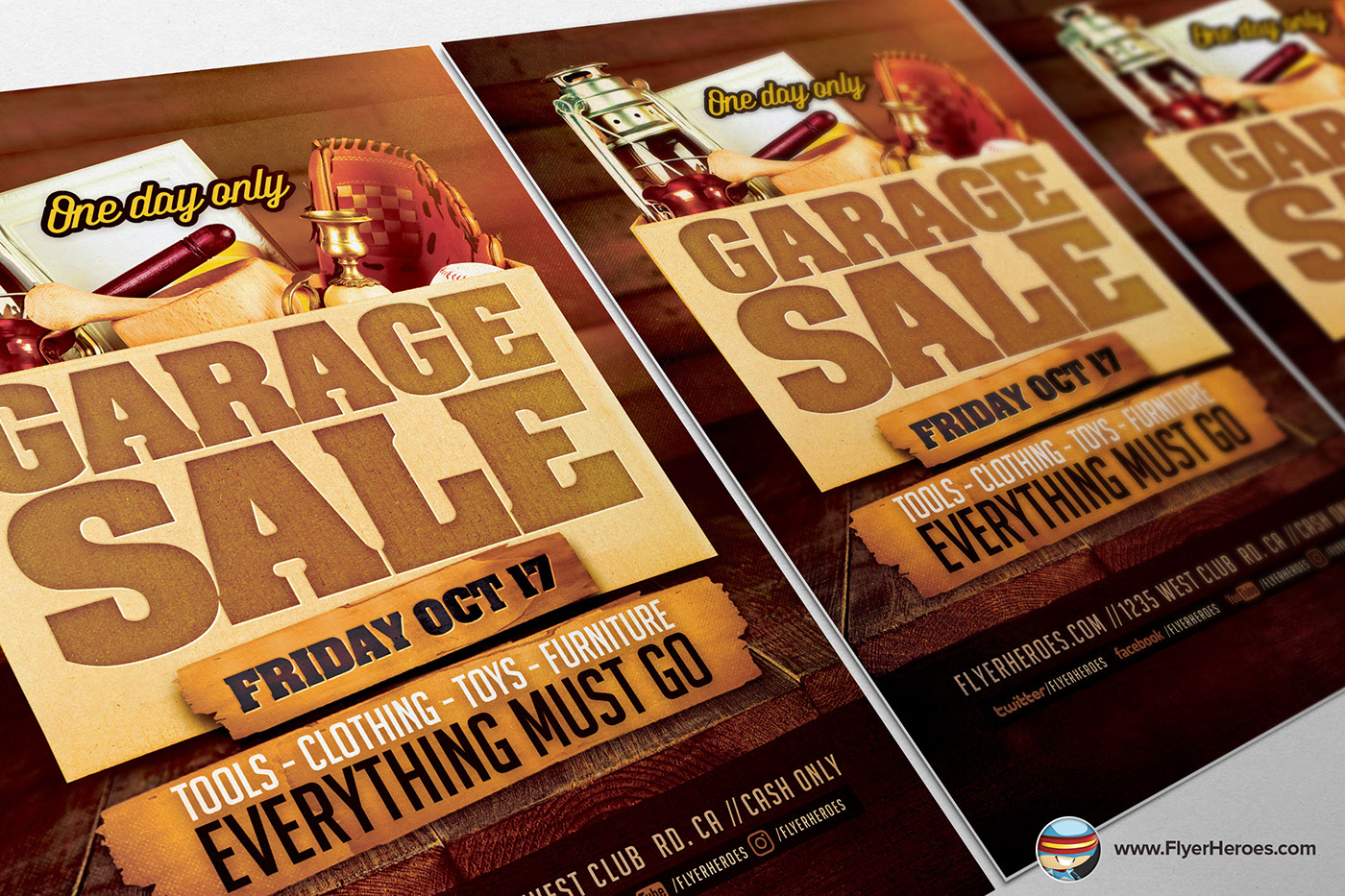 garage flyer template on behance garage flyer template is a premium photoshop psd flyer poster template designed by flyerheroes to be used photoshop cs4 and higher