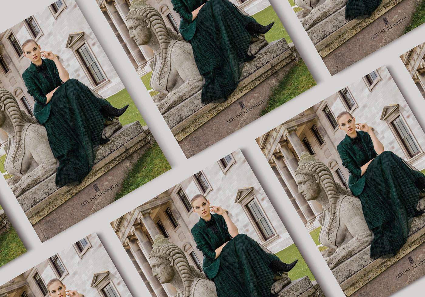 brochure campaign design evite Fashion  graphic design  Lookbook luxury Photography  Layout
