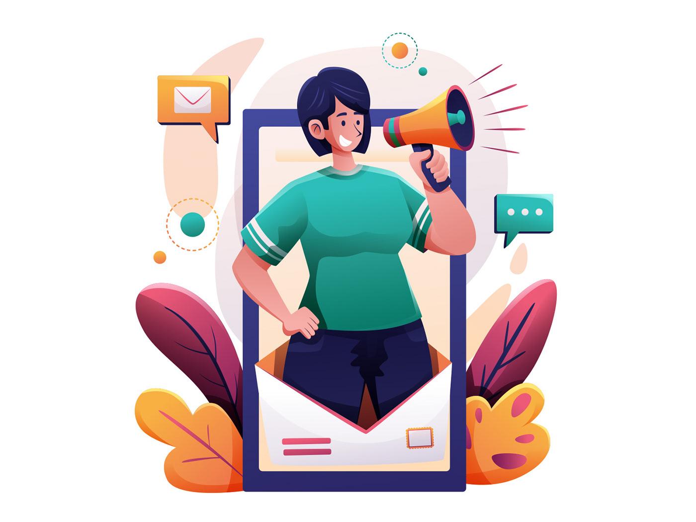 Character freebie ILLUSTRATION  Illustrator marketing illustration vector vector design vector download Vector Illustration woman