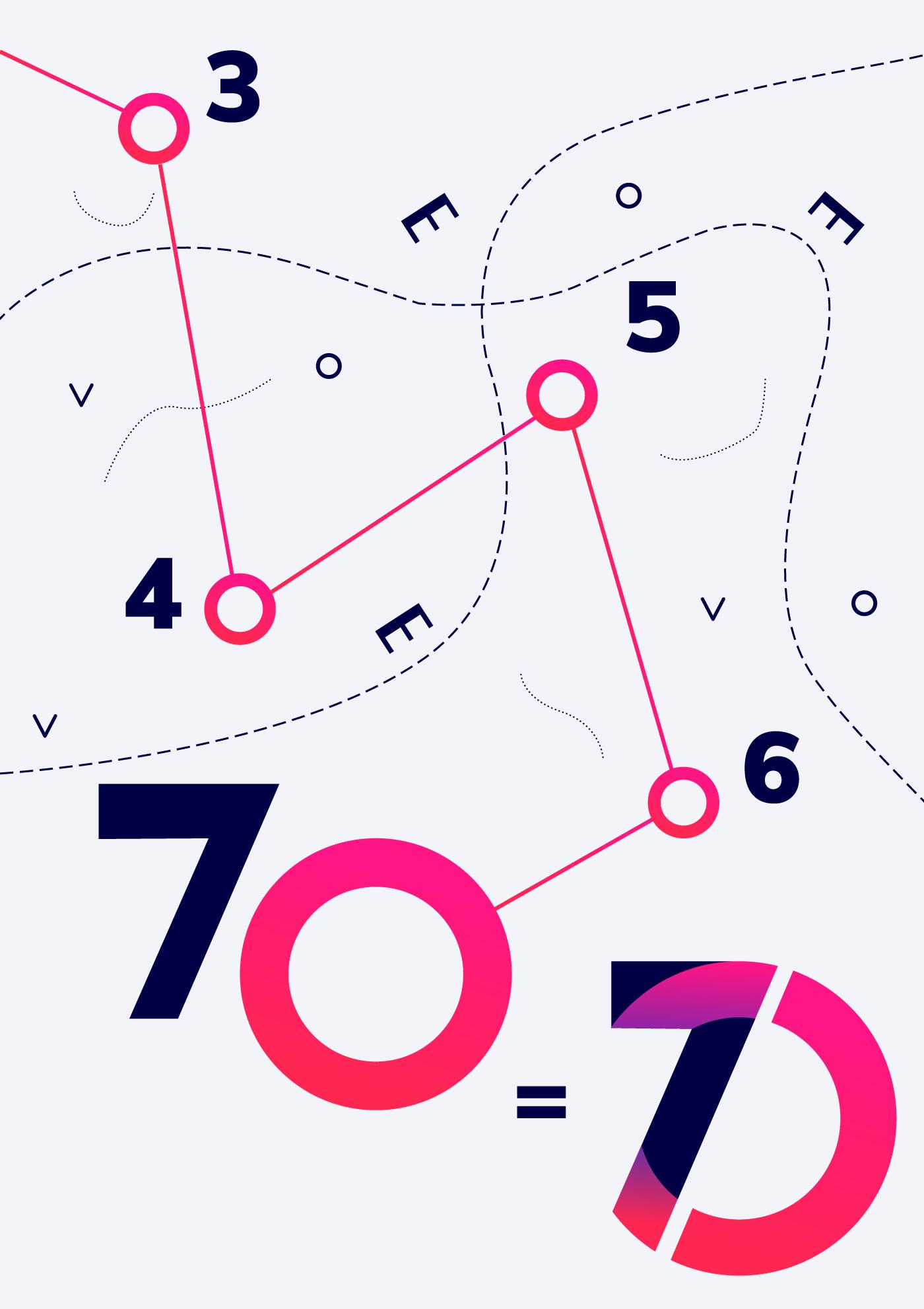 70 years logo orienteering