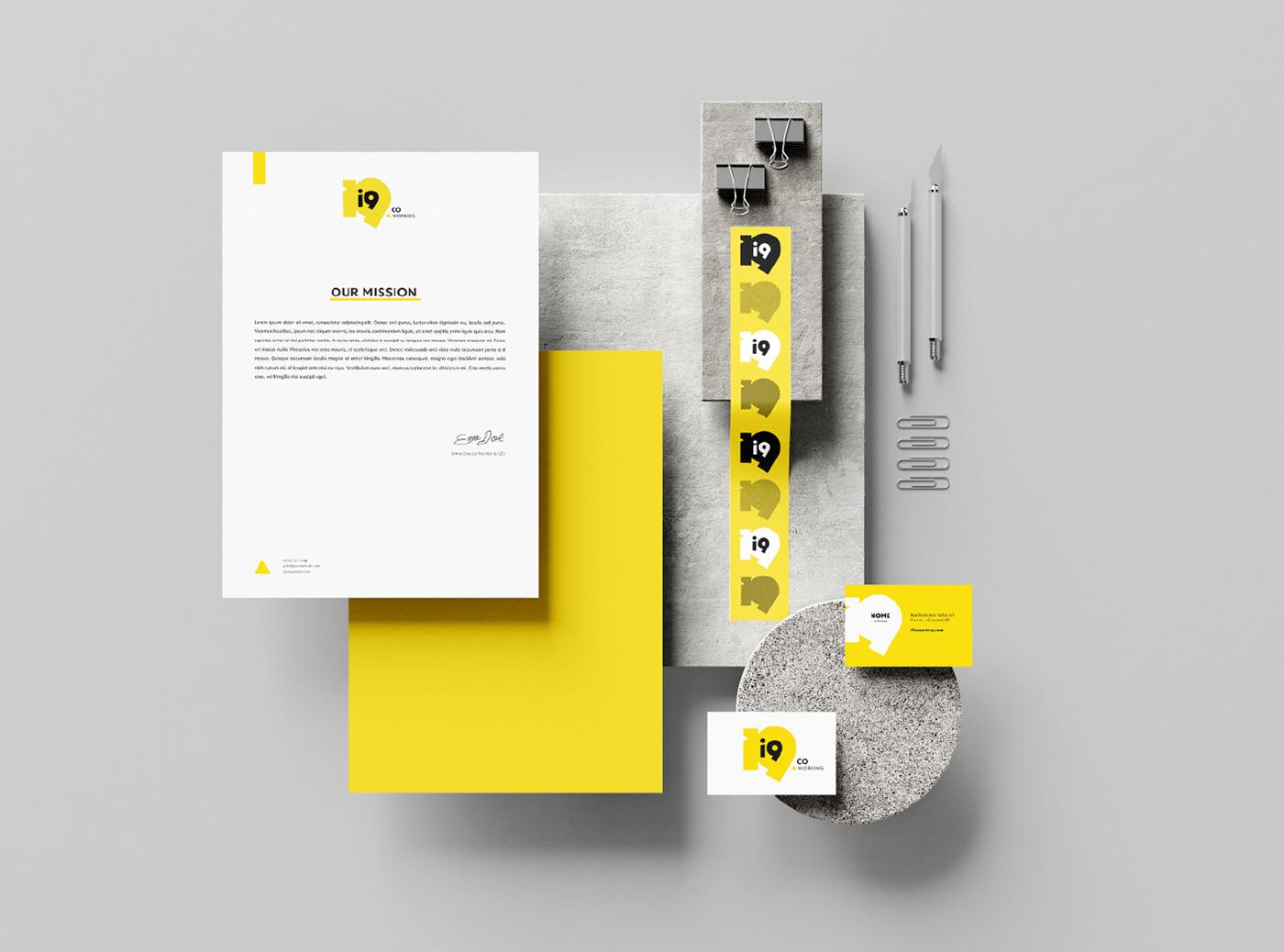 Brand Design brand identity branding  coworking design flat Logo Design minimalist Startup