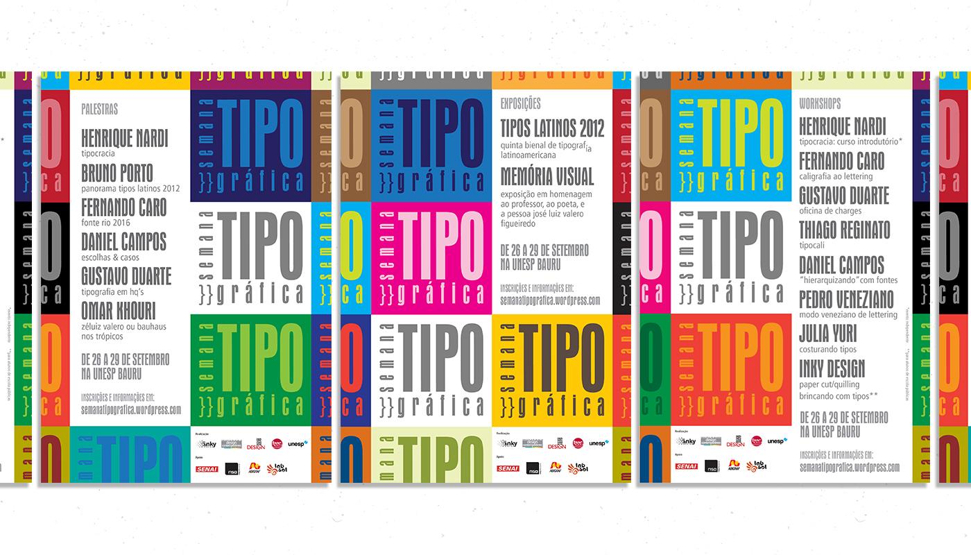 tipografia Evento Event semana letterset lambe lambe manual poster teaser