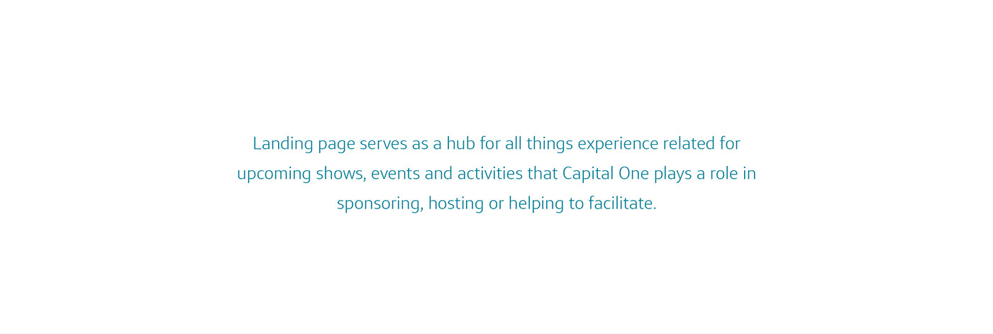 ux UI Capital One Web Design  mobile Responsive wireframes Events sponsorships