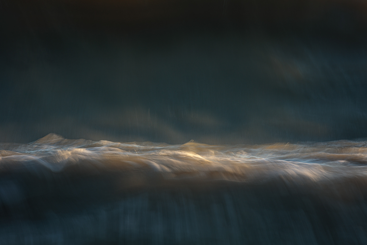 A painterly photograph of the sea
