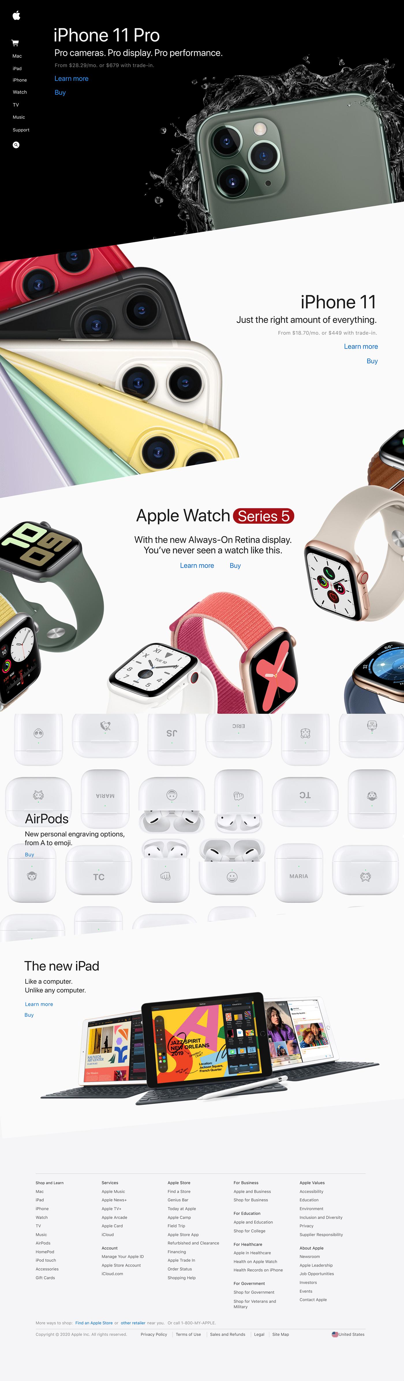 apple Web Design  concept