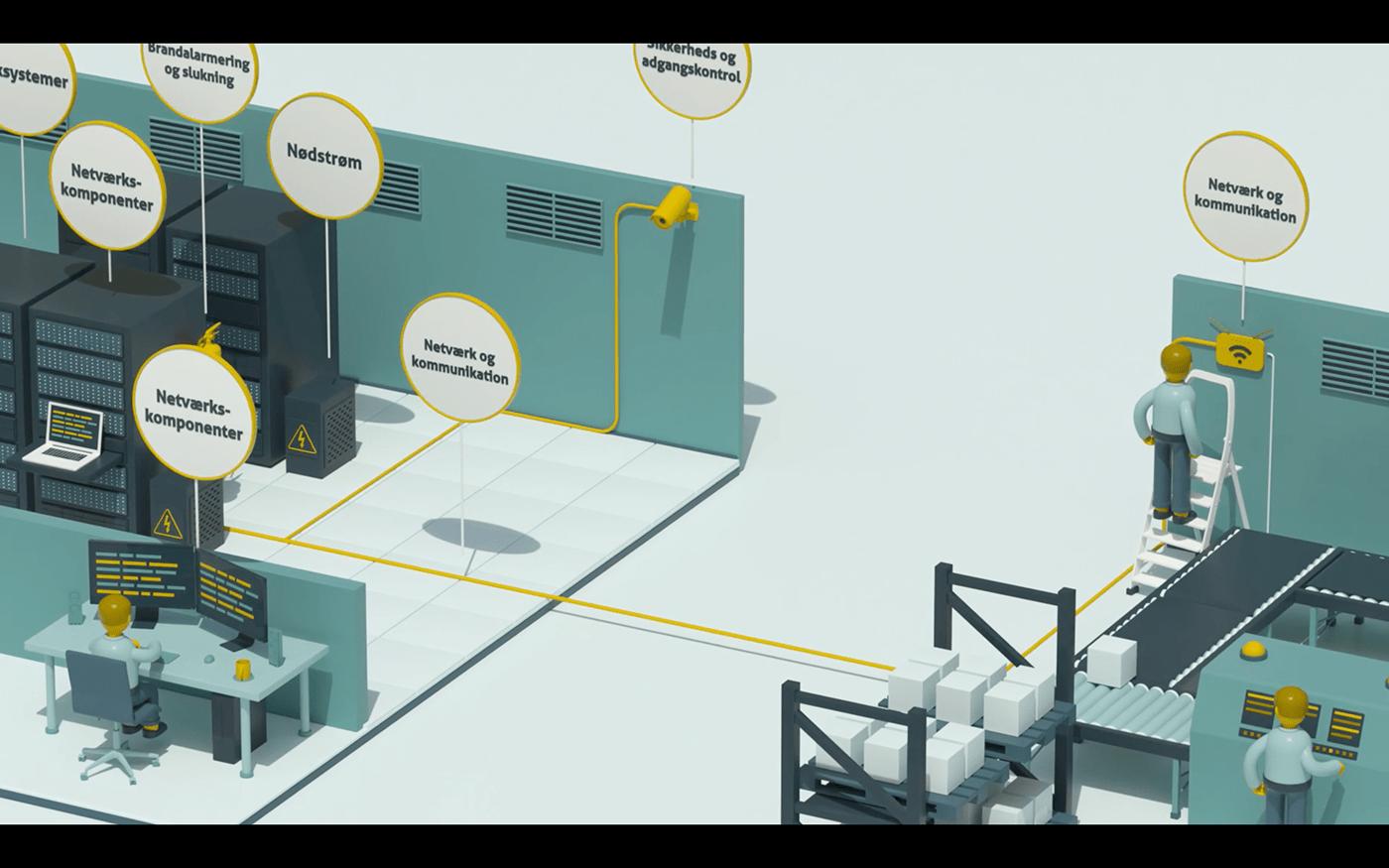 3D animation  cinema 4d explainer octane