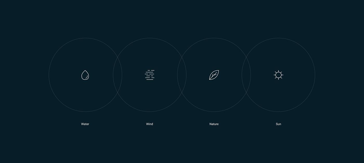 design green UI ux animation  clean interaction minimal Minimalism typography