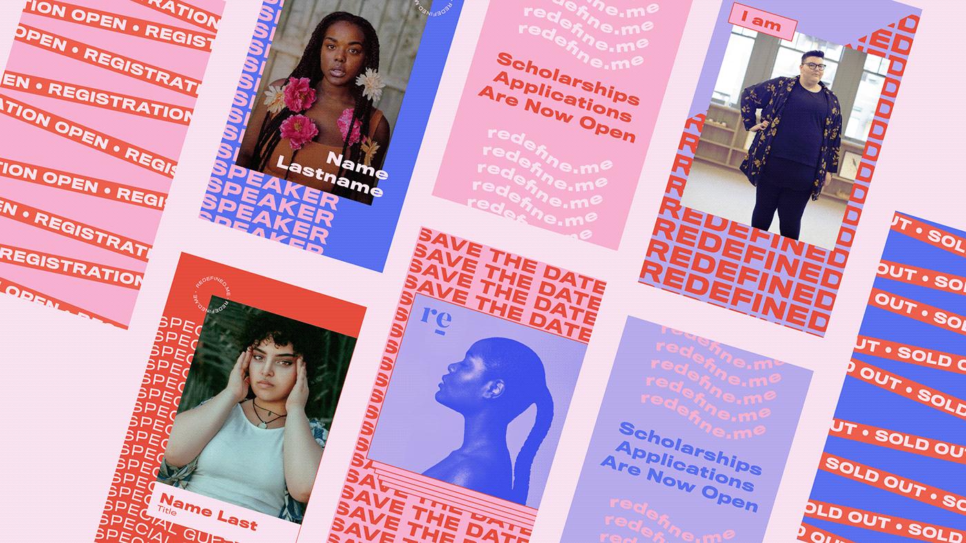Adobe Live branding  Event Branding Invitation event website Event Design Female Empowerment women body positive conference
