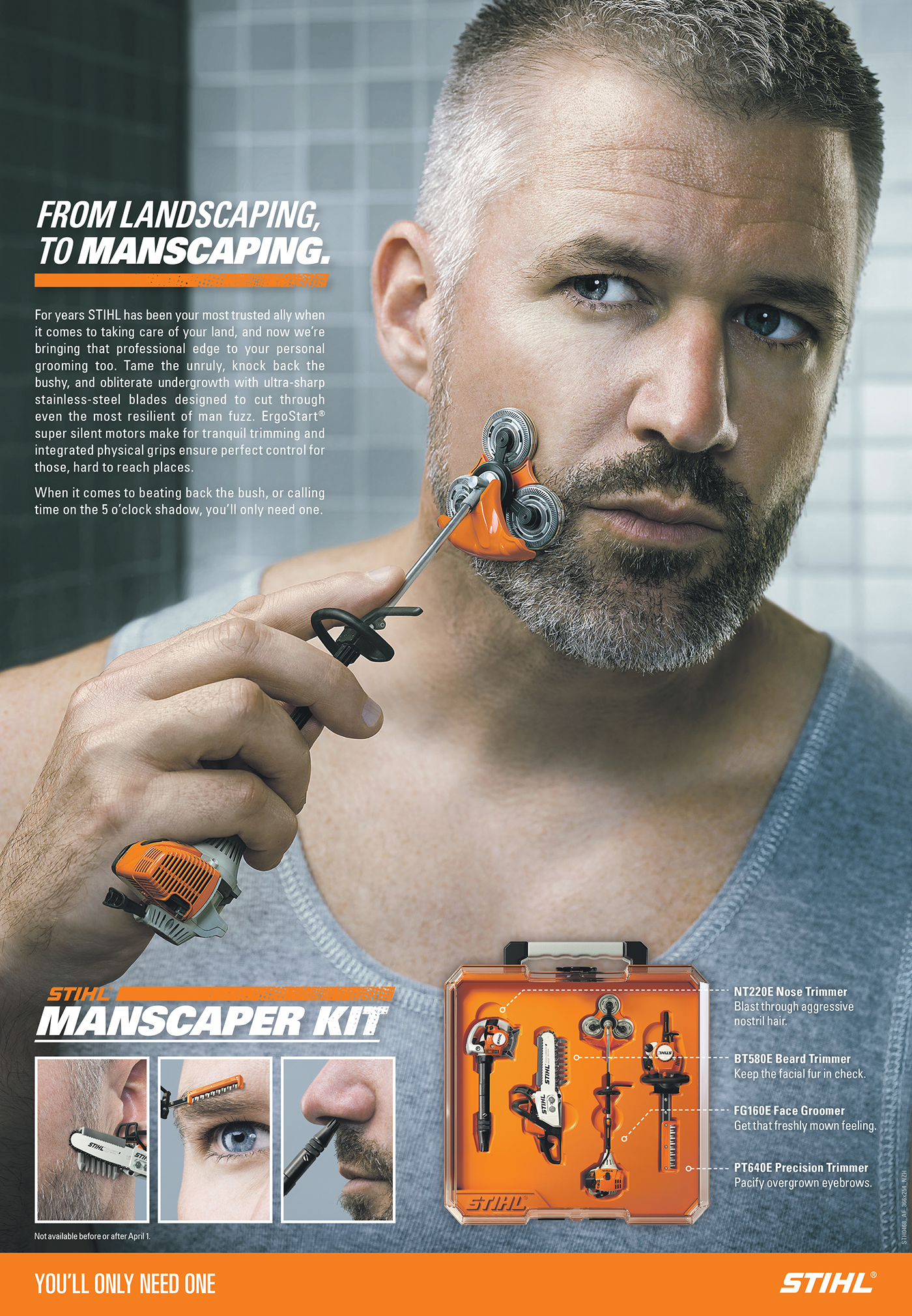 stihl manscaping kit  behance