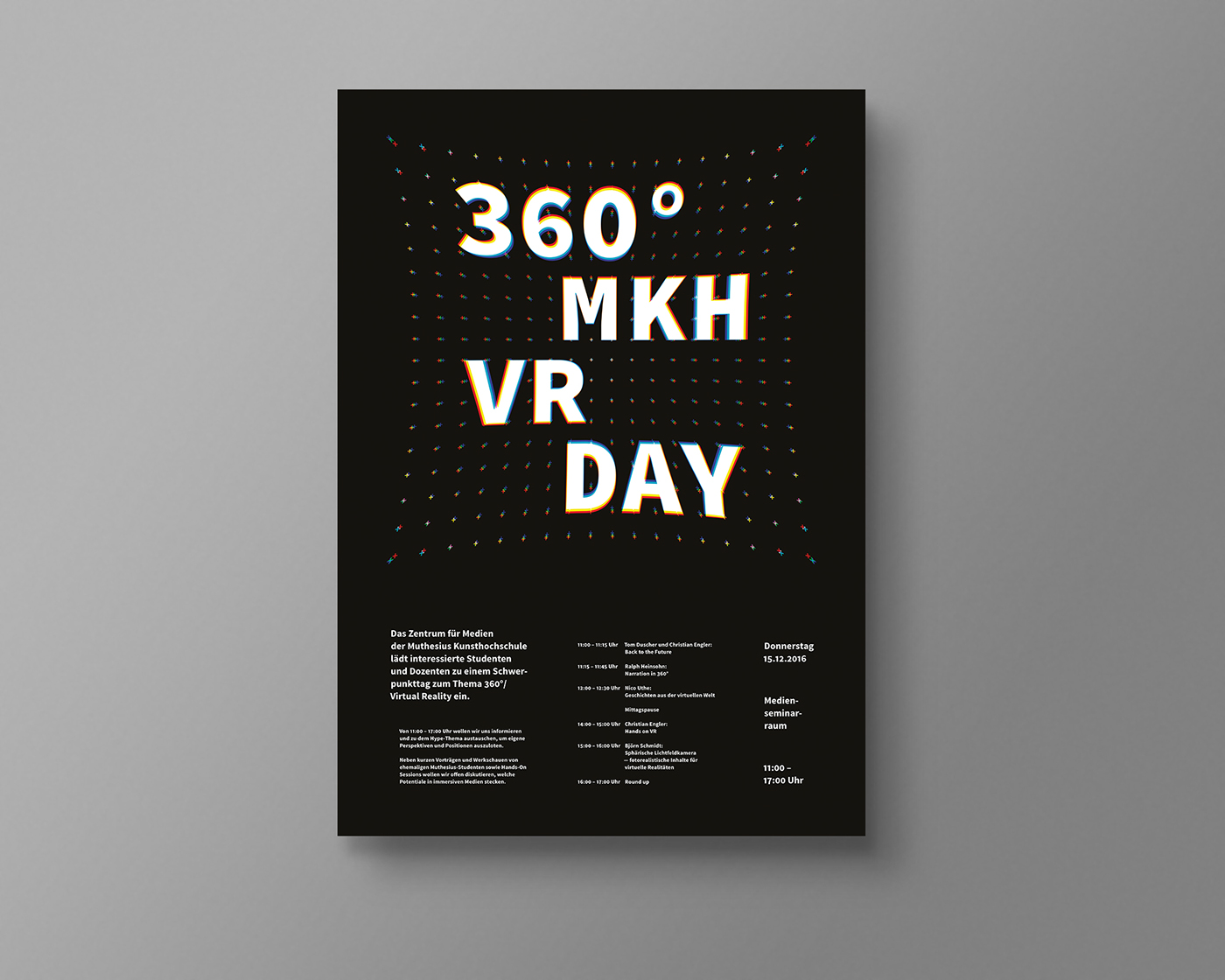 vr Virtual reality 360° poster talks conference Event