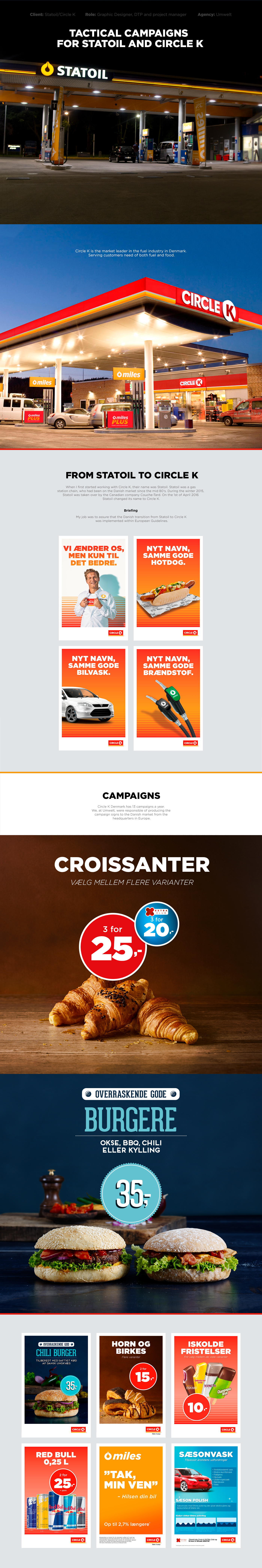 Circle K Umwelt tactical campaigns Convenience Store graphic design  Project Management Statoil