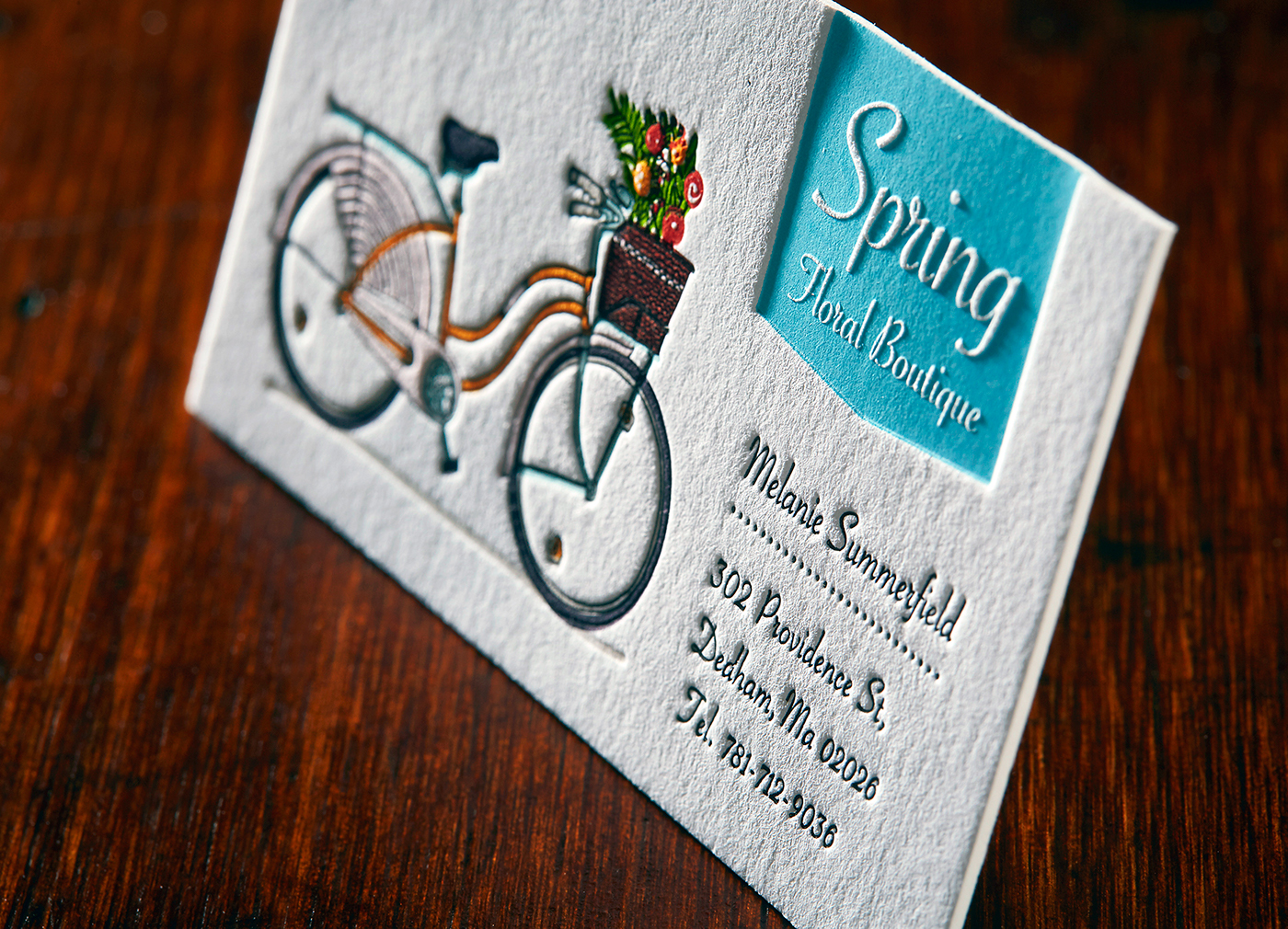Letterpress Business Card with a Deep Impression on Behance