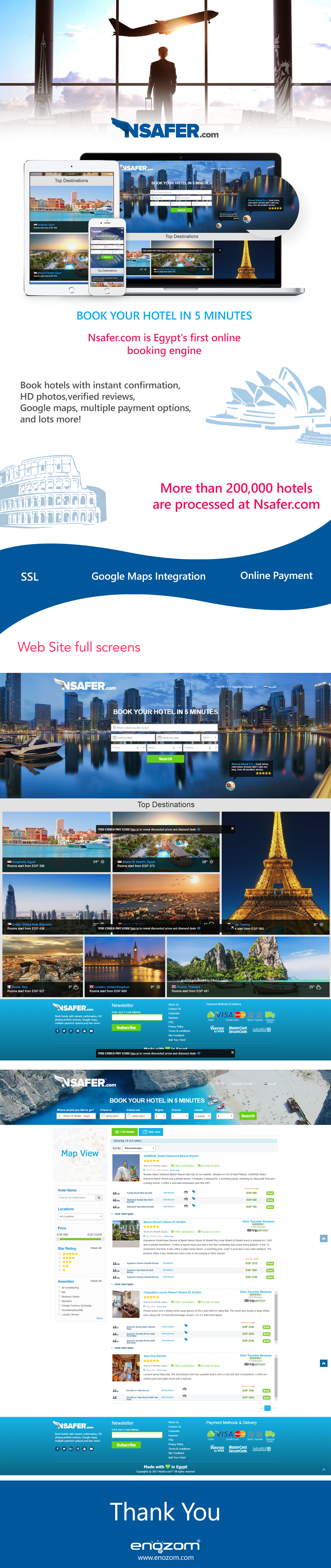 Nsafer Travel Booking Booking.com   Responsive css3 bootstrap Web Design