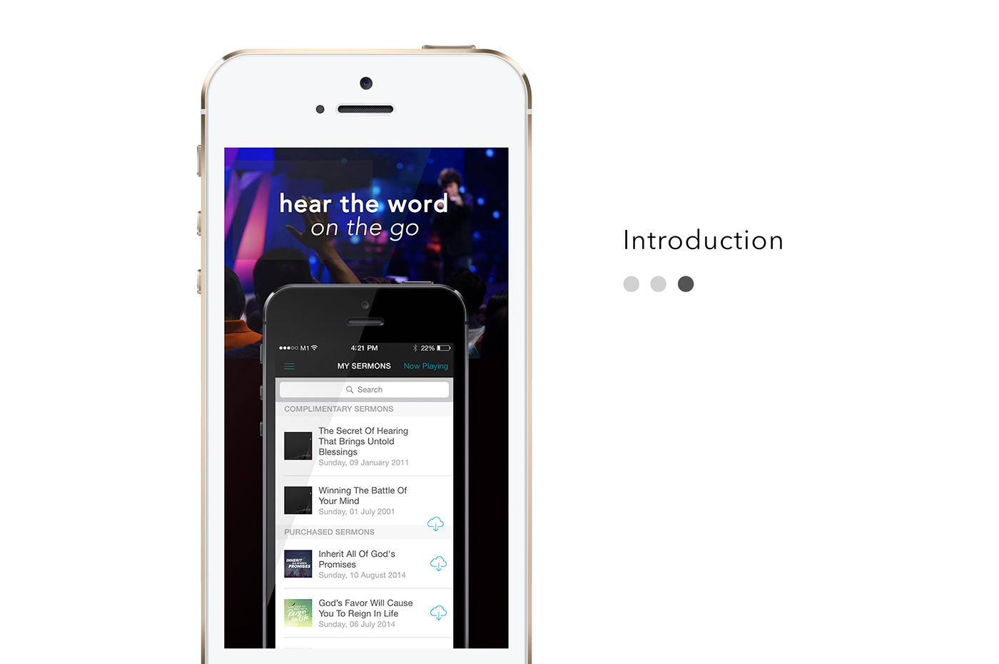 Music Player ios flat ux clean minimal mobile application