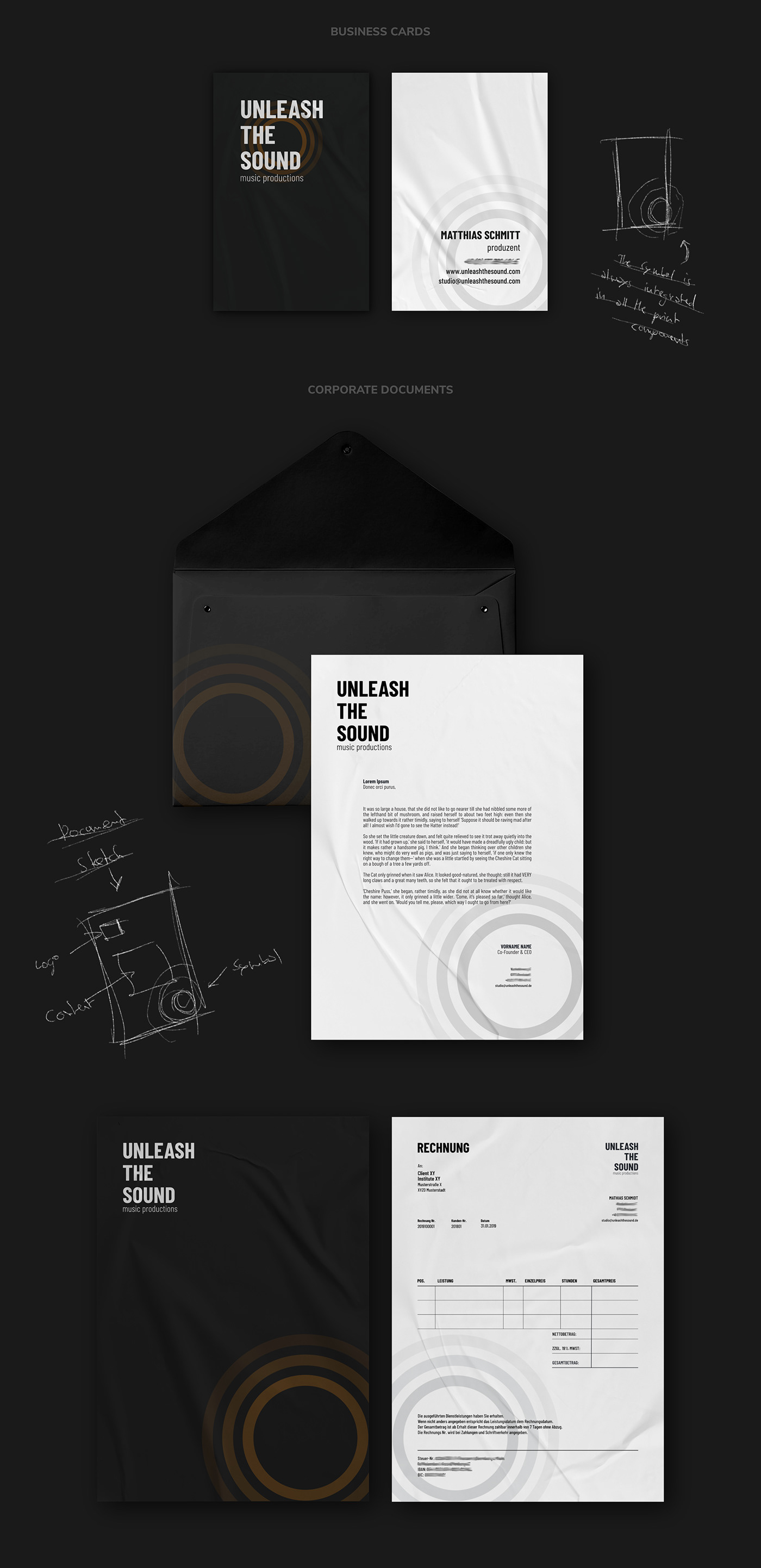 Unleash The Sound // Business Cards + Documents