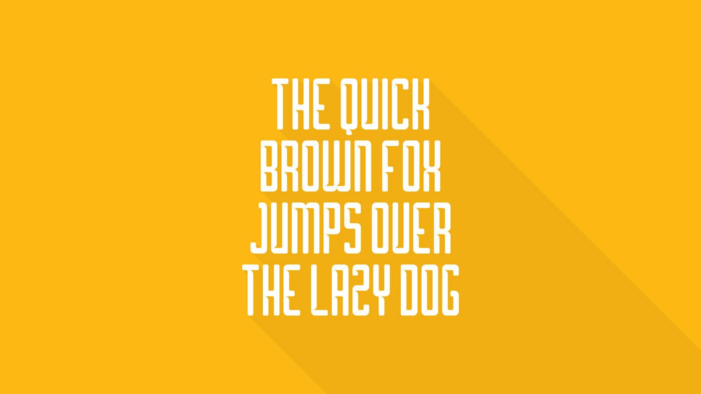 borg Typeface font alphabet lettering geometric Sweden hole cut minimal free curves yellow furniture ikea