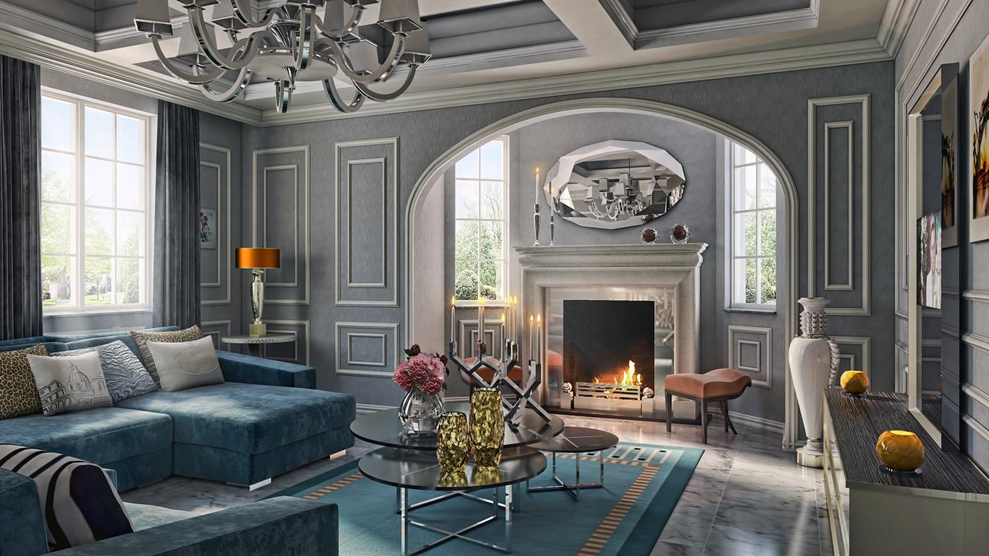 有美感的34個客廳牆壁顏色欣賞