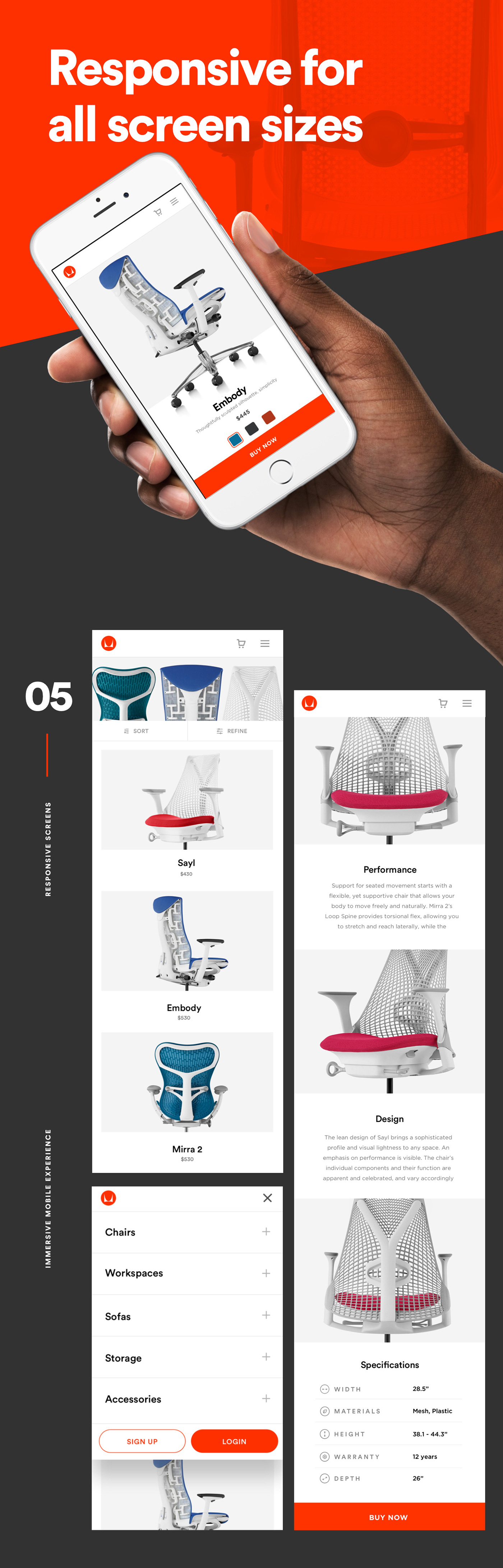 interaction app Web Website logo redesign Responsive minimal flat furniture landing page homepage ux UI clean