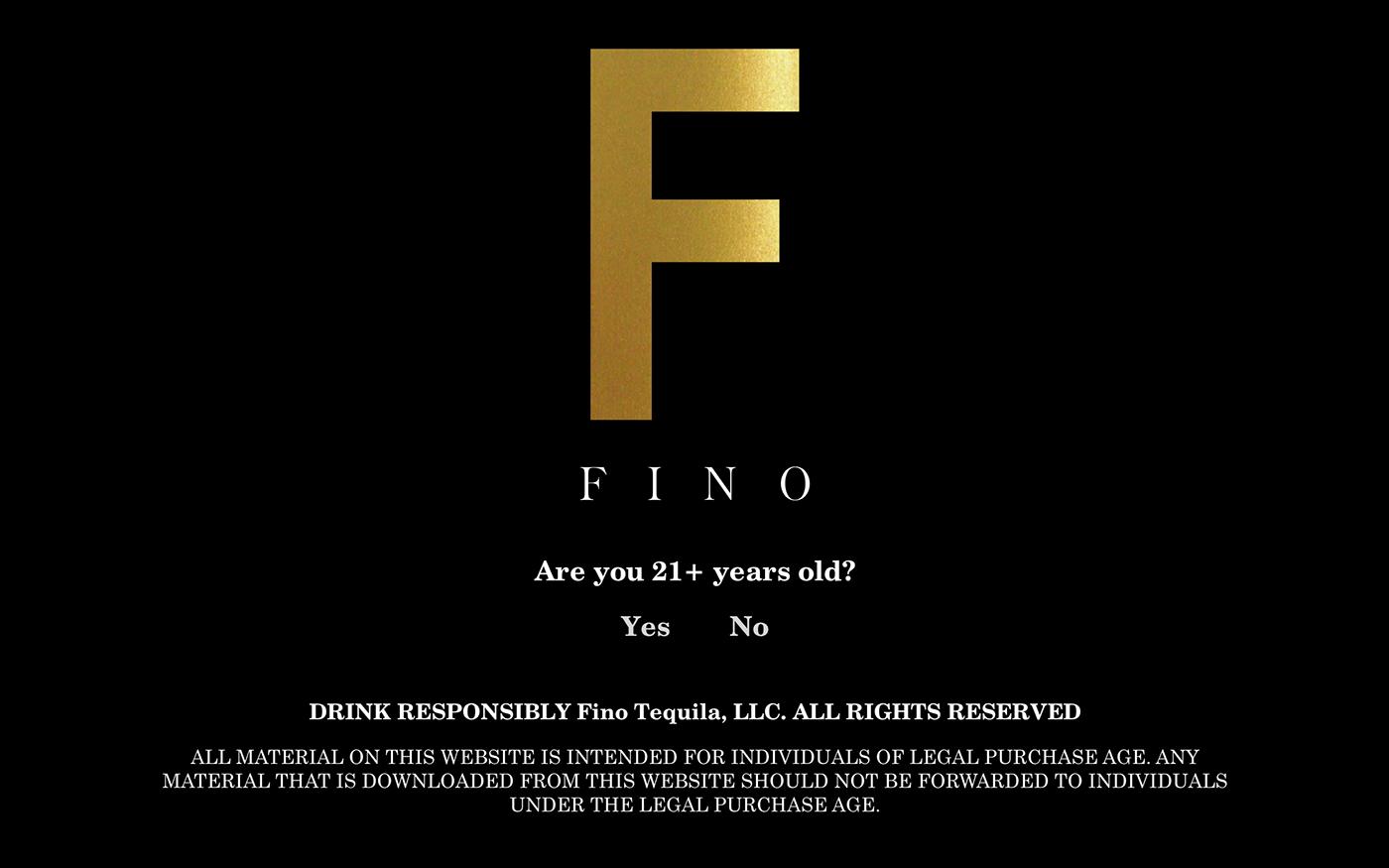 Fino Tequila (Web Design and Logo Vectorizing) on Behance