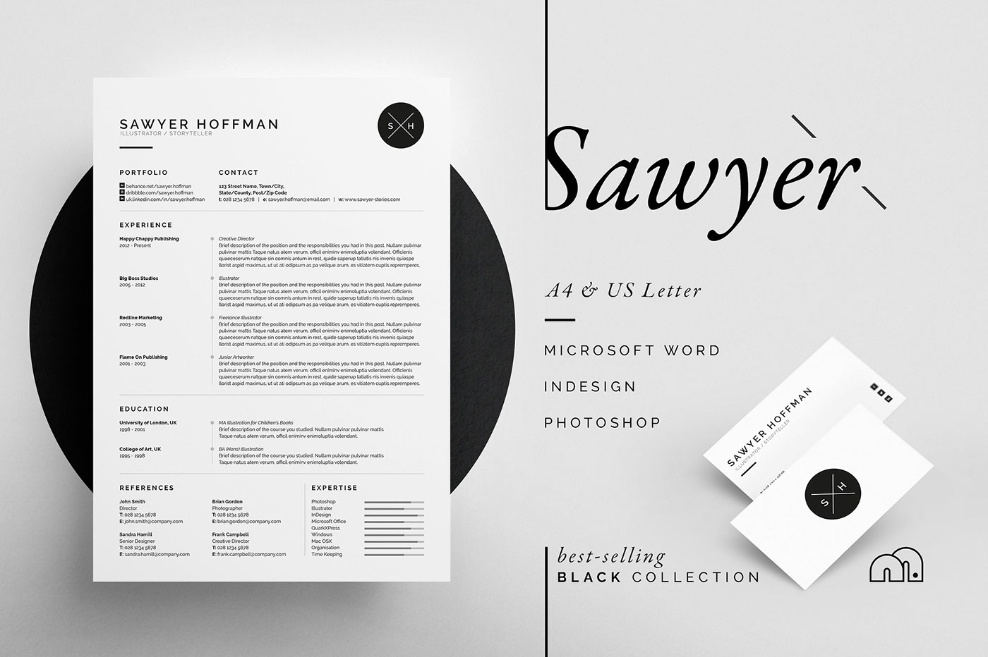 Resume/Cv - 'Sawyer' On Behance